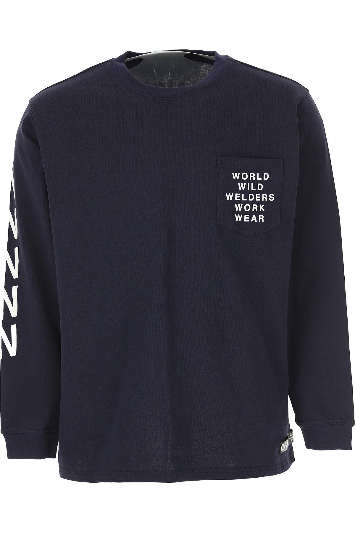 U.P.W.W. T-shirt Homme Pas cher en Soldes, Bleu, Coton, 2019, L M S XS