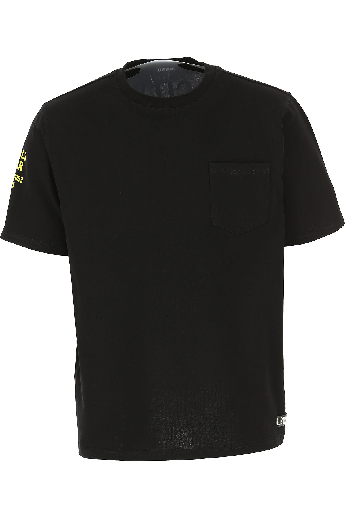 U.P.W.W. T-shirt Homme Pas cher en Soldes, Noir, Coton, 2019, L M S XS