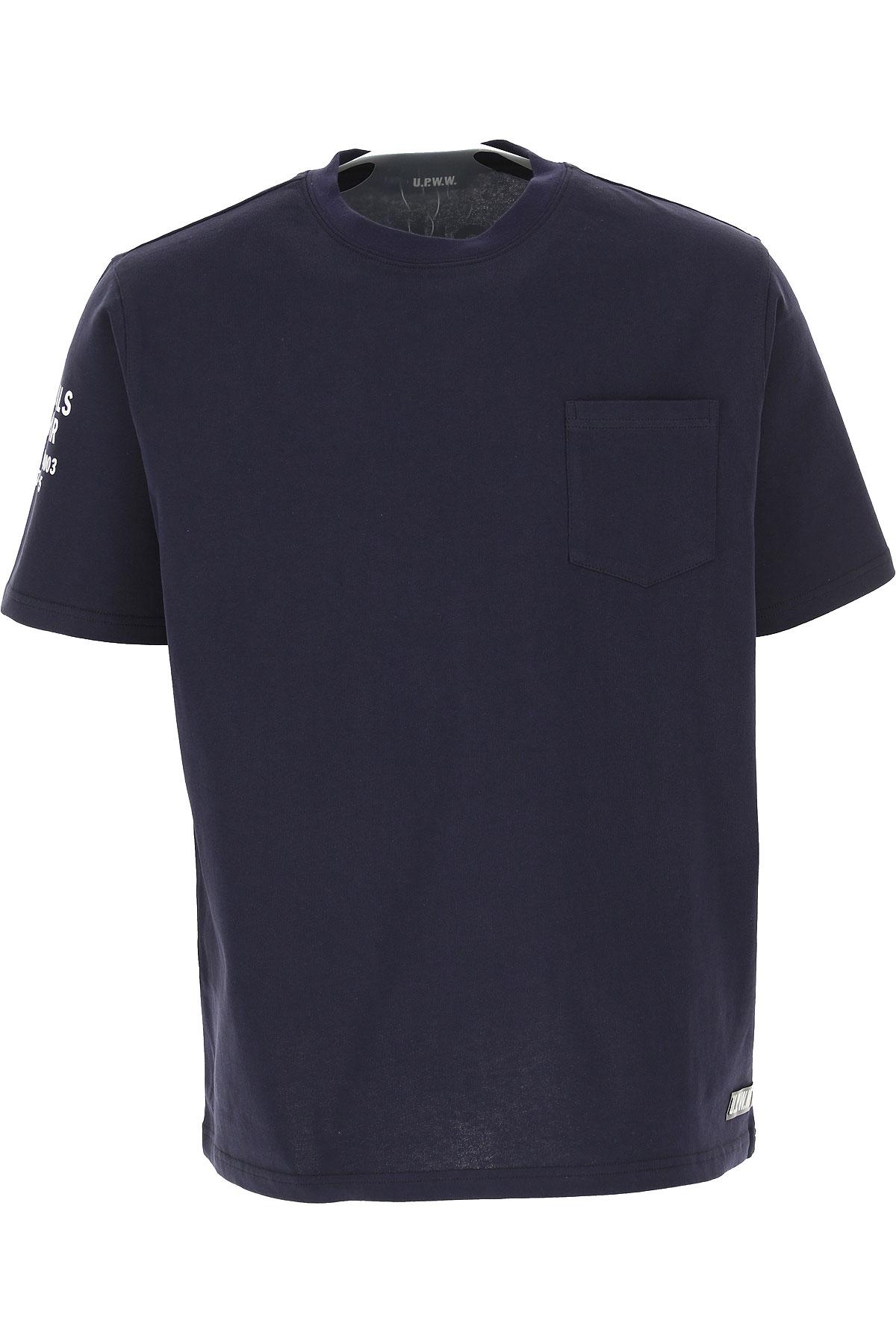 U.P.W.W. T-shirt Homme Pas cher en Soldes, Marine, Coton, 2019, L M S XL