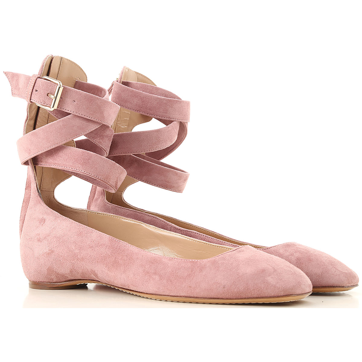 Valentino Garavani Ballet Flats Ballerina Shoes for Women On Sale in Outlet, Antique Rose, Suede leather, 2019, 10 6 6.5 7 8 8.5 9 9.5