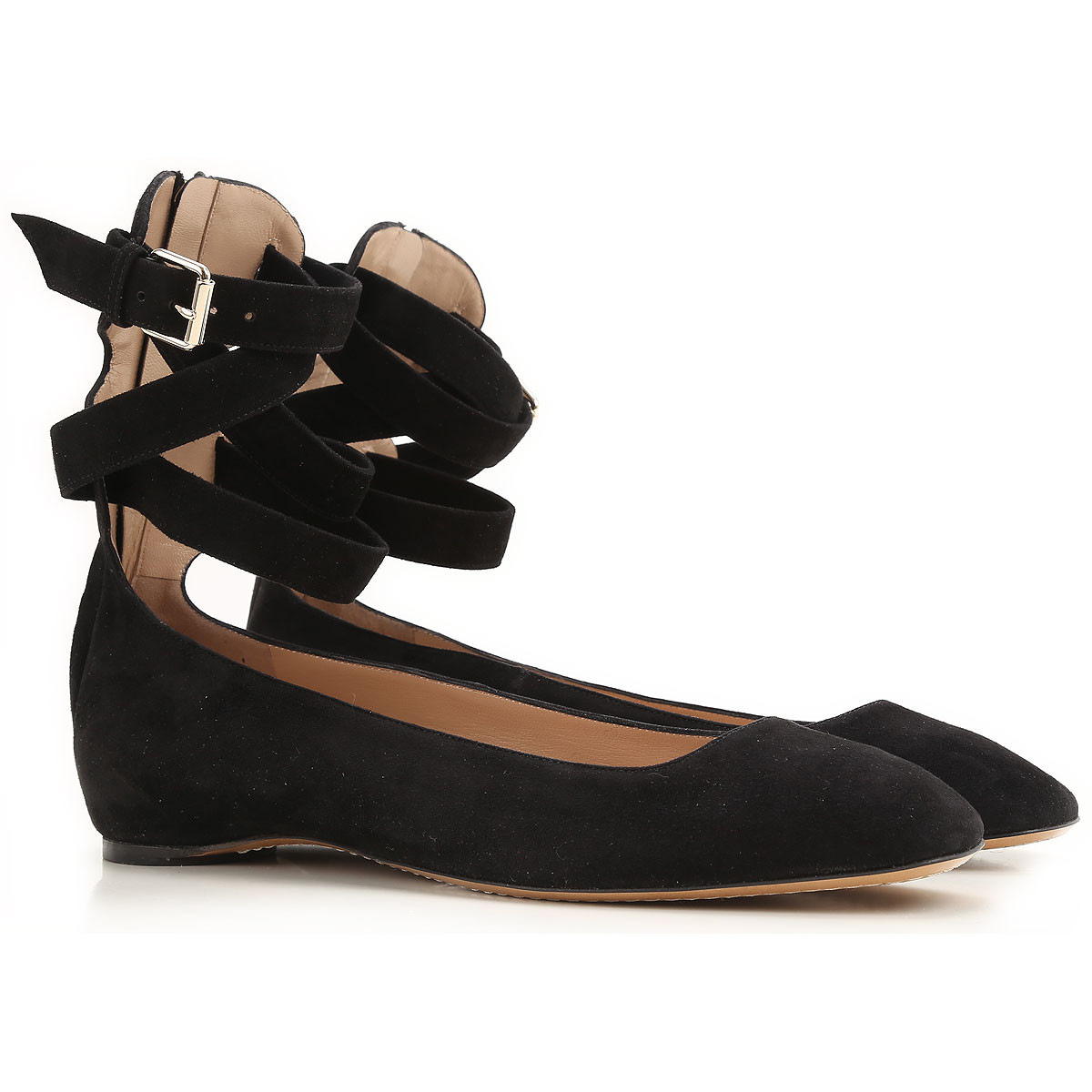 Valentino Garavani Ballet Flats Ballerina Shoes for Women On Sale in Outlet, Black, Suede leather, 2019, 10 6 7 8.5 9 9.5