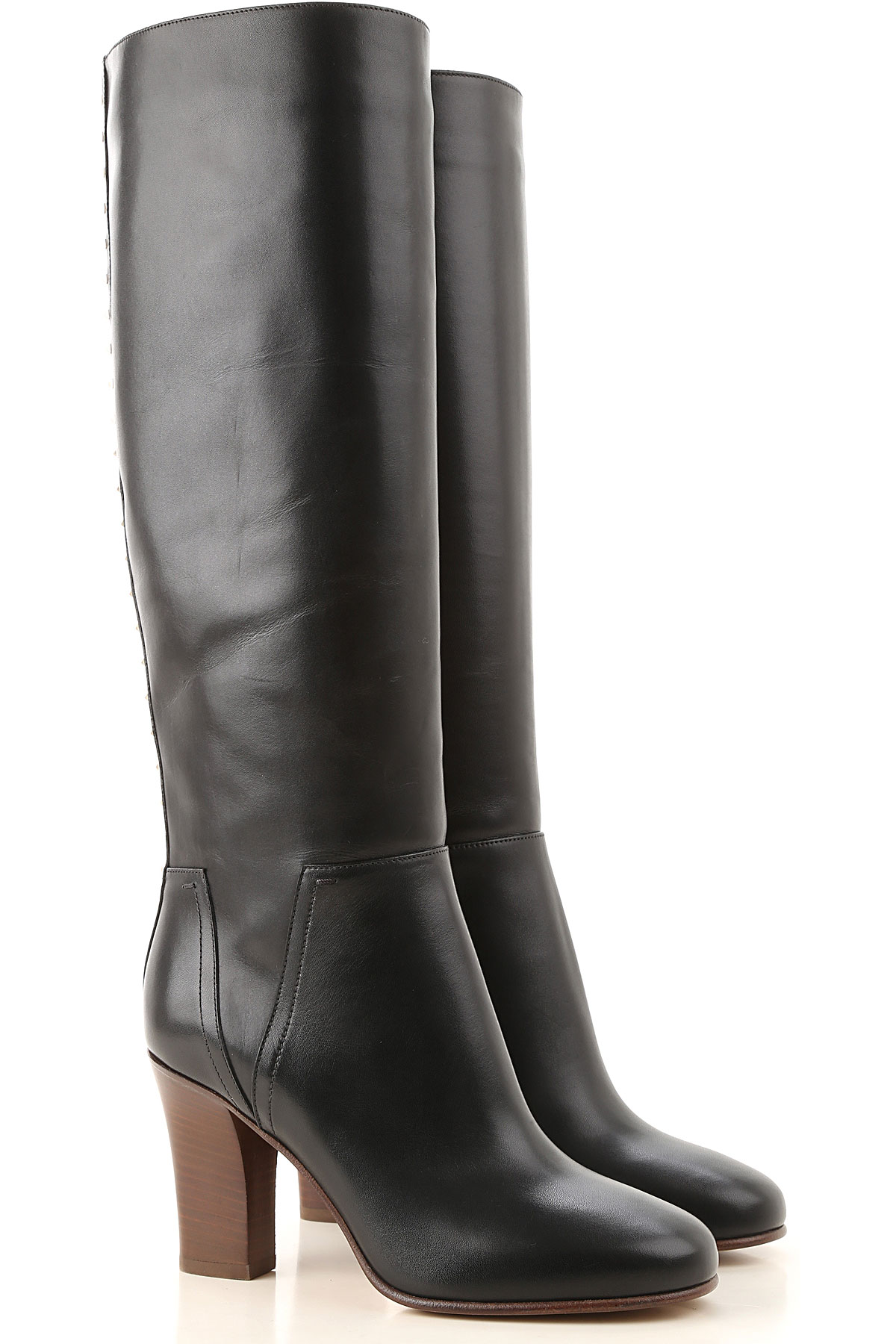 Valentino Garavani Boots for Women, Booties On Sale, Black, Leather, 2019, 10 7 8 9