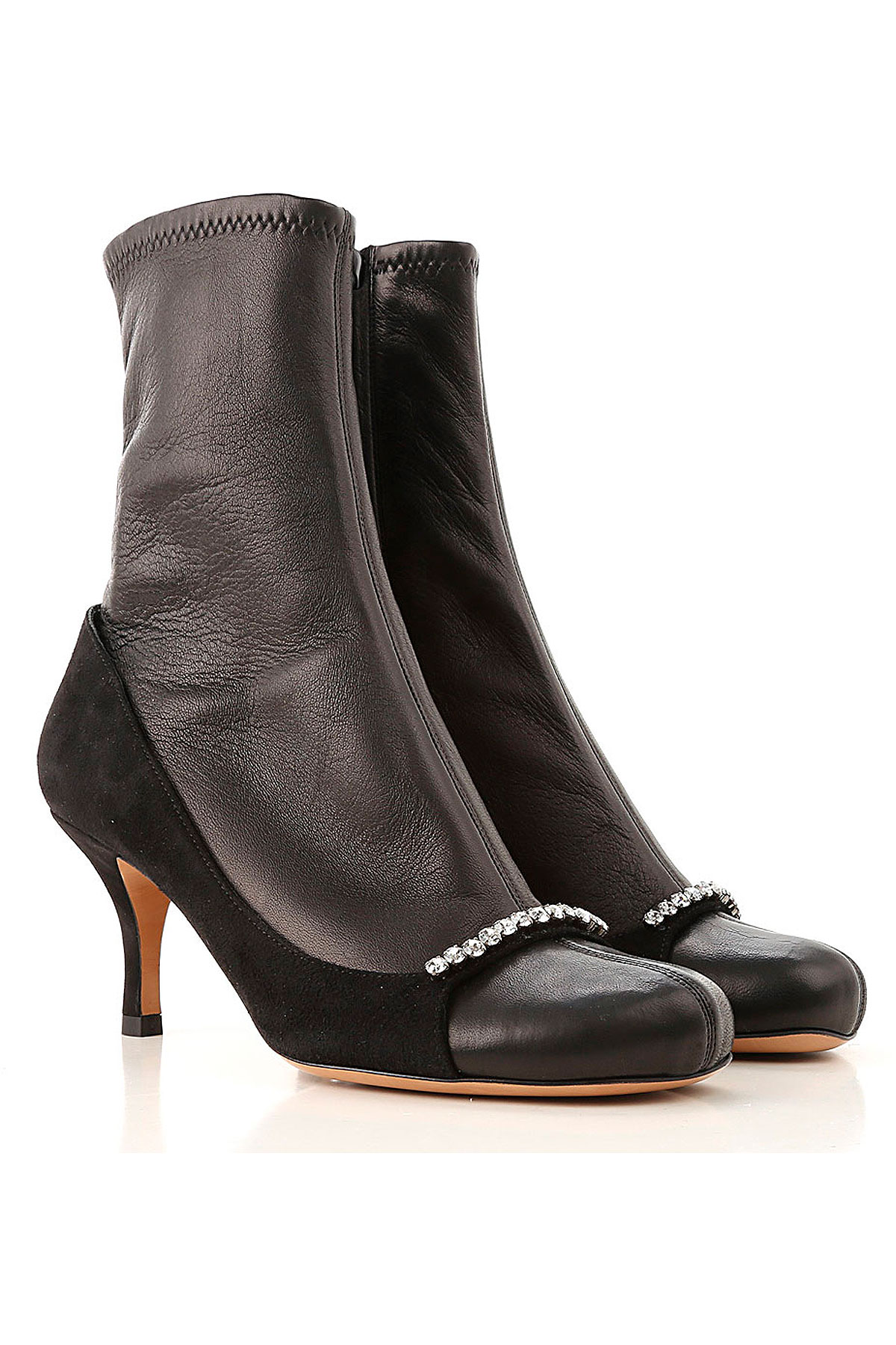 Valentino Garavani Boots for Women, Booties On Sale in Outlet, Black, Leather, 2019, 5 6 6.5 7 8 8.5