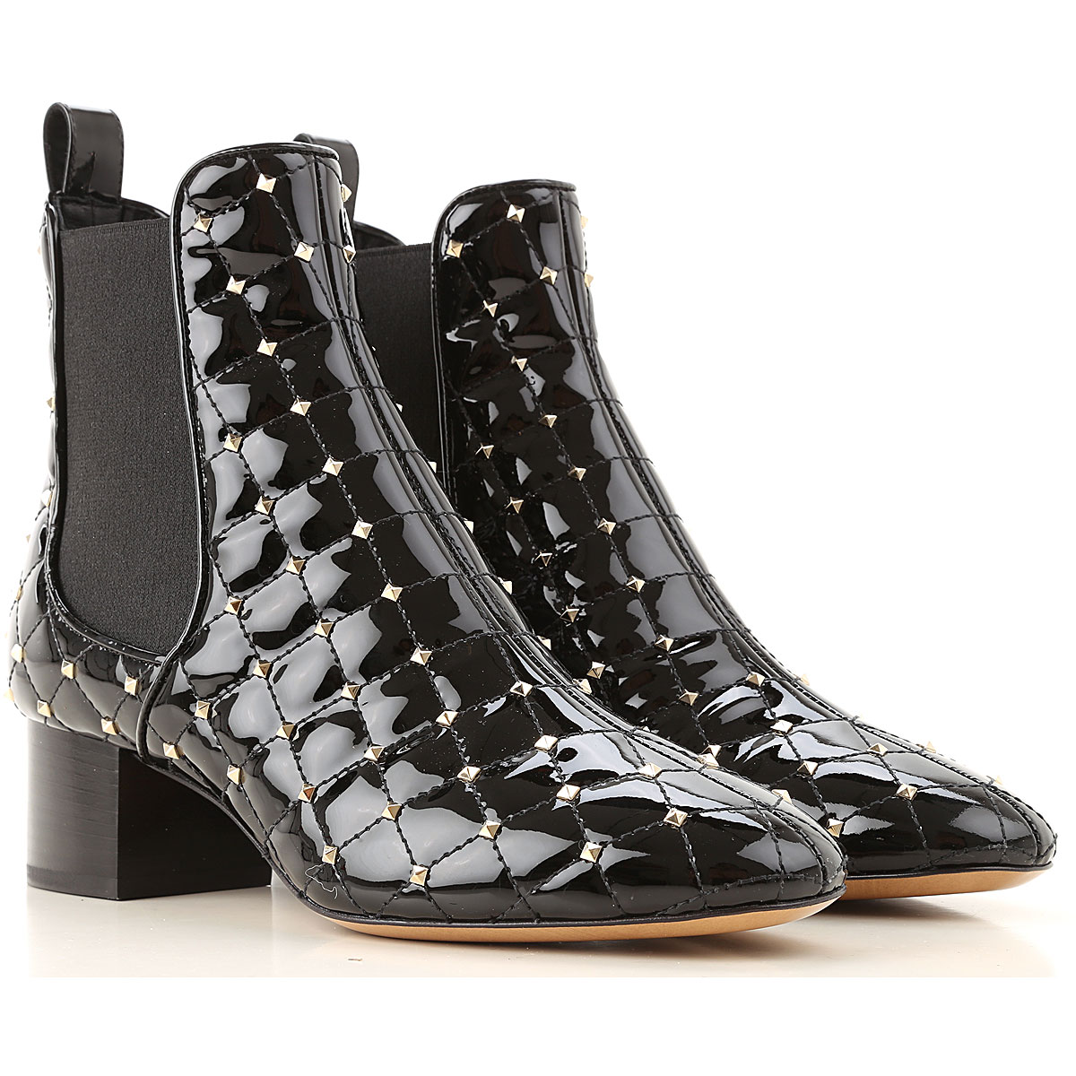 Valentino Garavani Chelsea Boots for Women On Sale, Black, Leather, 2019, 5.5 6 7 8 8.5 9