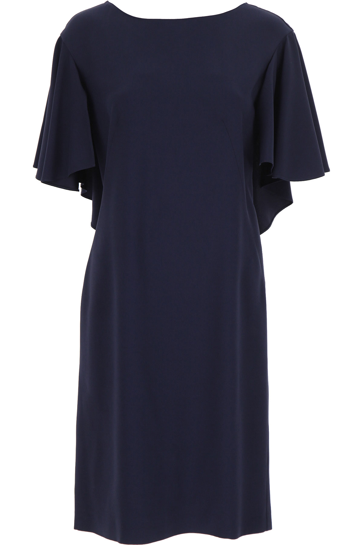 Alberta Ferretti Dress for Women, Evening Cocktail Party On Sale, Midnight Blue, acetate, 2019, 10 6 8