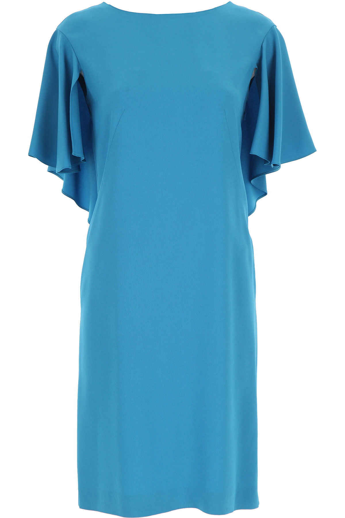 Alberta Ferretti Dress for Women, Evening Cocktail Party On Sale, Teal Blue, acetate, 2019, 10 12 4 6 8