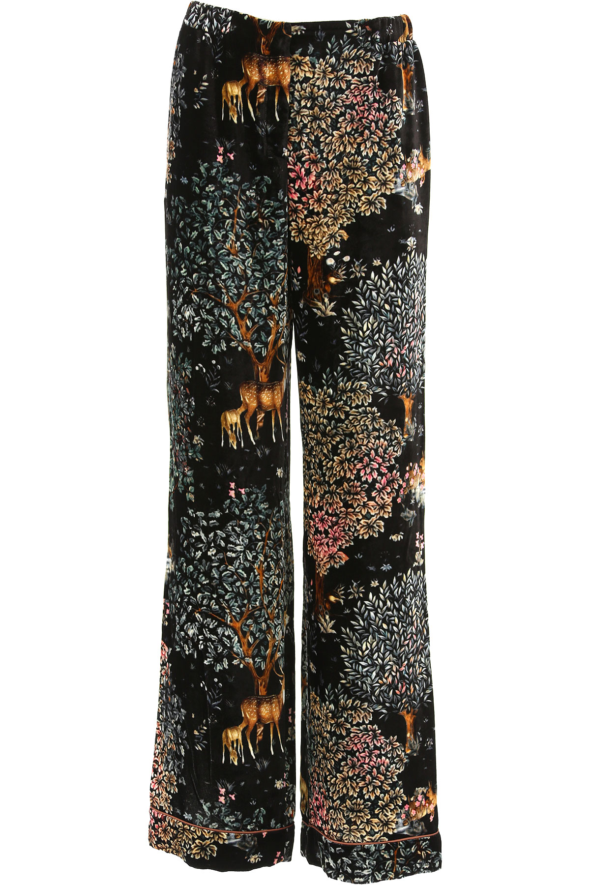 Image of Alberta Ferretti Pants for Women, Black, viscosa, 2017, 26 28