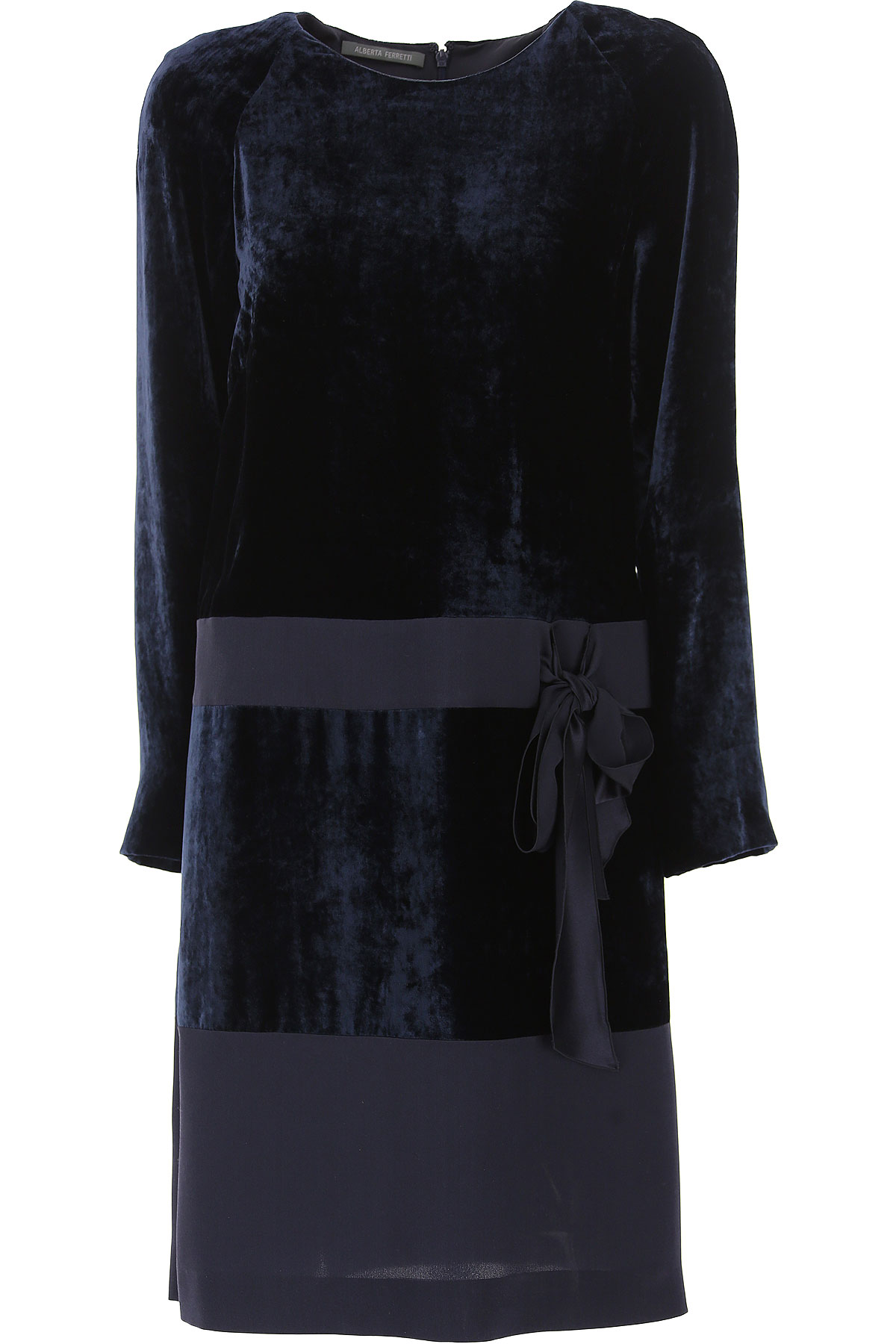 Image of Alberta Ferretti Dress for Women, Evening Cocktail Party On Sale, Blue, viscosa, 2017, 4 8