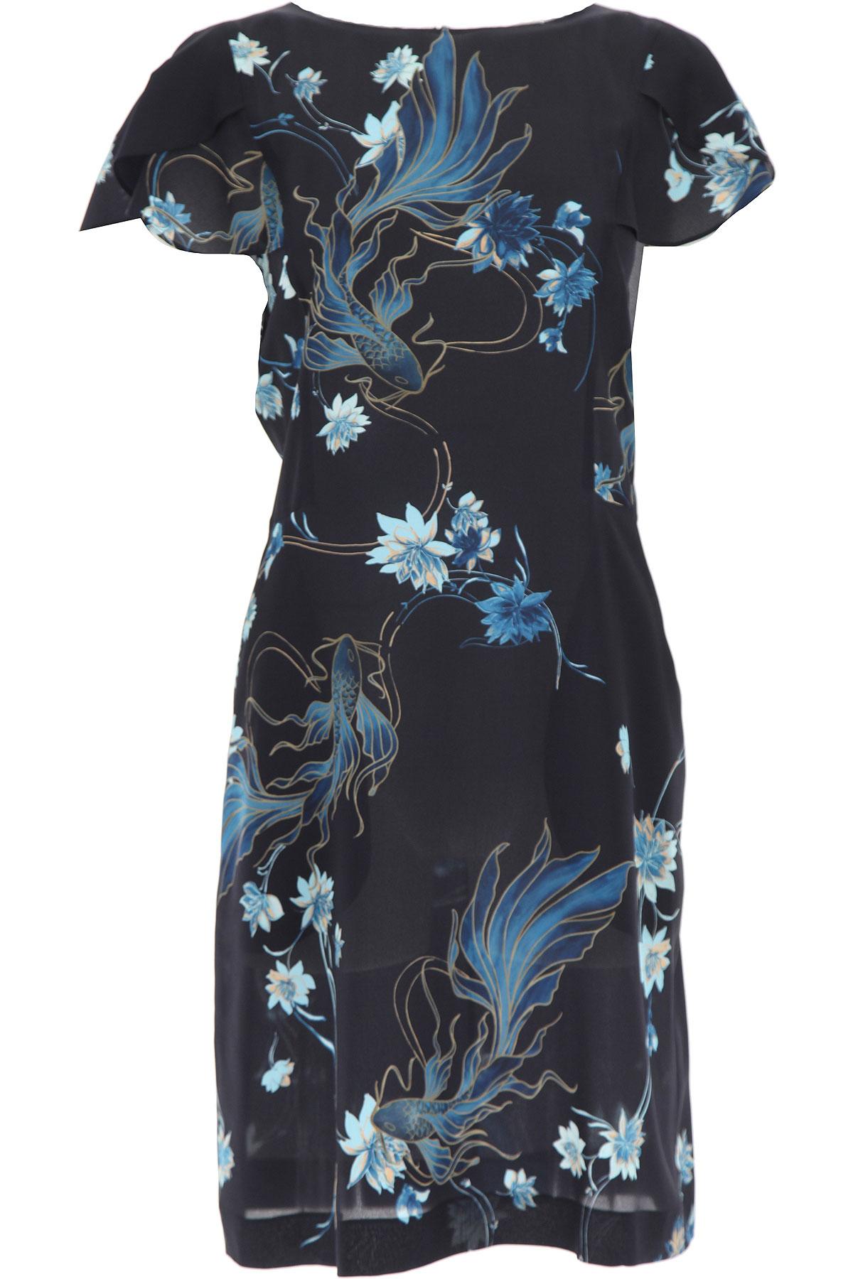 Alberta Ferretti Dress for Women, Evening Cocktail Party On Sale, Dark Midnight Blue, cupro, 2019, 4 6 8
