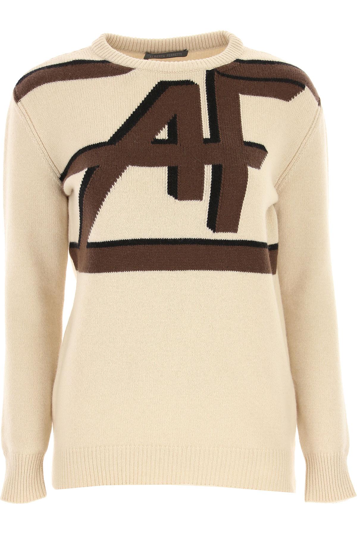 Alberta Ferretti Sweater for Women Jumper, Beige, Virgin wool, 2019, 4 6