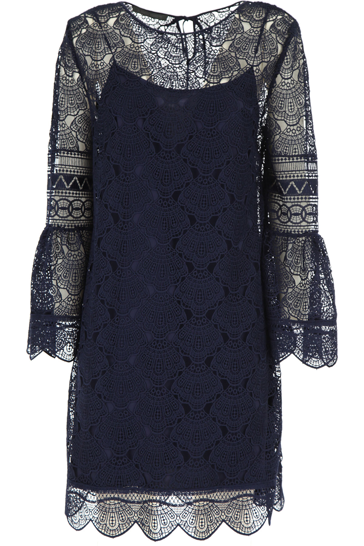 Alberta Ferretti Dress for Women, Evening Cocktail Party On Sale, Midnight Blue, polyestere, 2019, 10 12 6 8