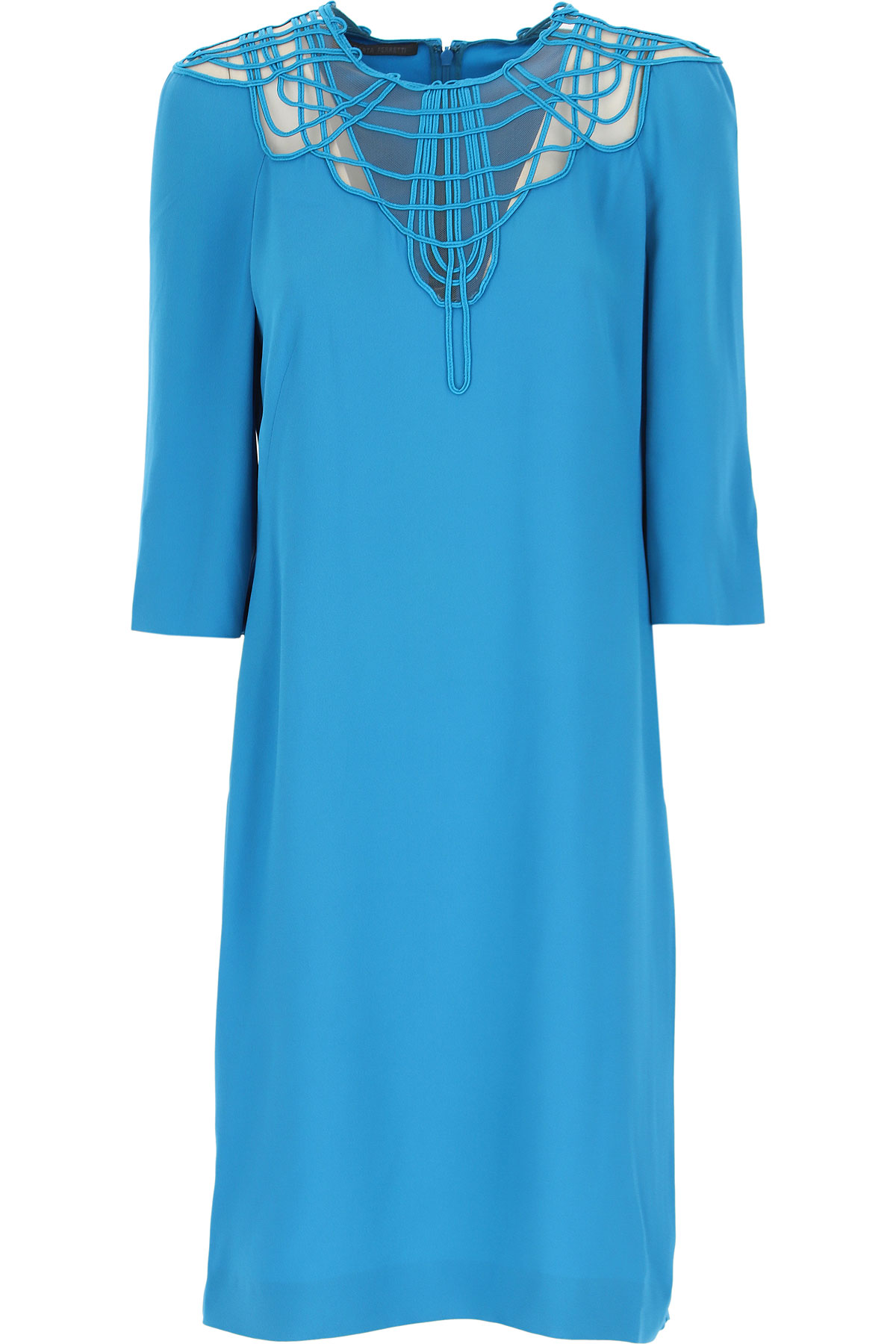 Alberta Ferretti Dress for Women, Evening Cocktail Party On Sale, Bluette, acetate, 2019, 6 8