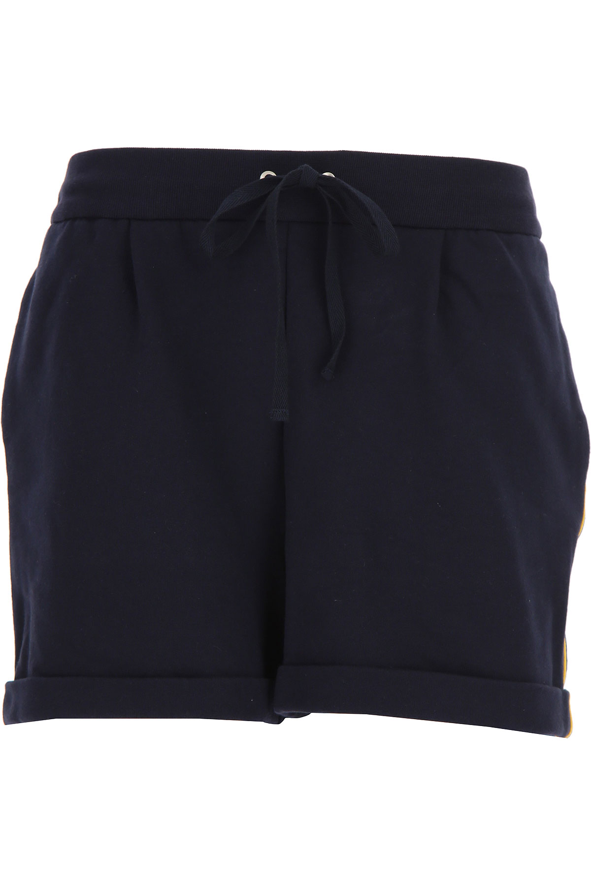 Alberta Ferretti Shorts for Women On Sale, navy, Cotton, 2019, XS (IT 38) S (IT 40) M (IT 42 )