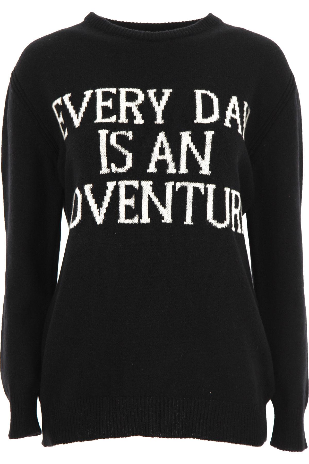 Alberta Ferretti Sweater for Women Jumper On Sale, Black, Cashmere, 2019, 4 6
