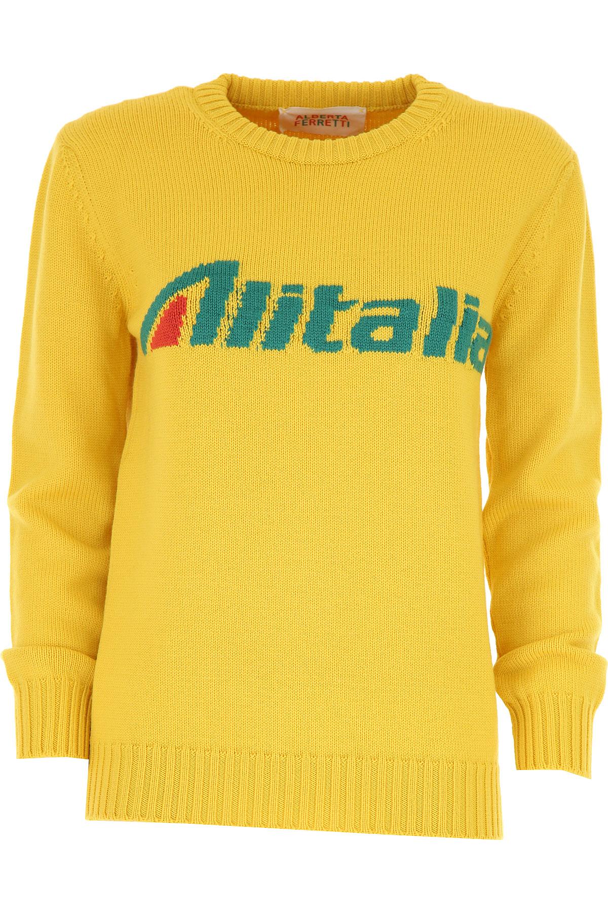 Alberta Ferretti Sweater for Women Jumper On Sale, Yellow, Virgin wool, 2019, 2 4 6
