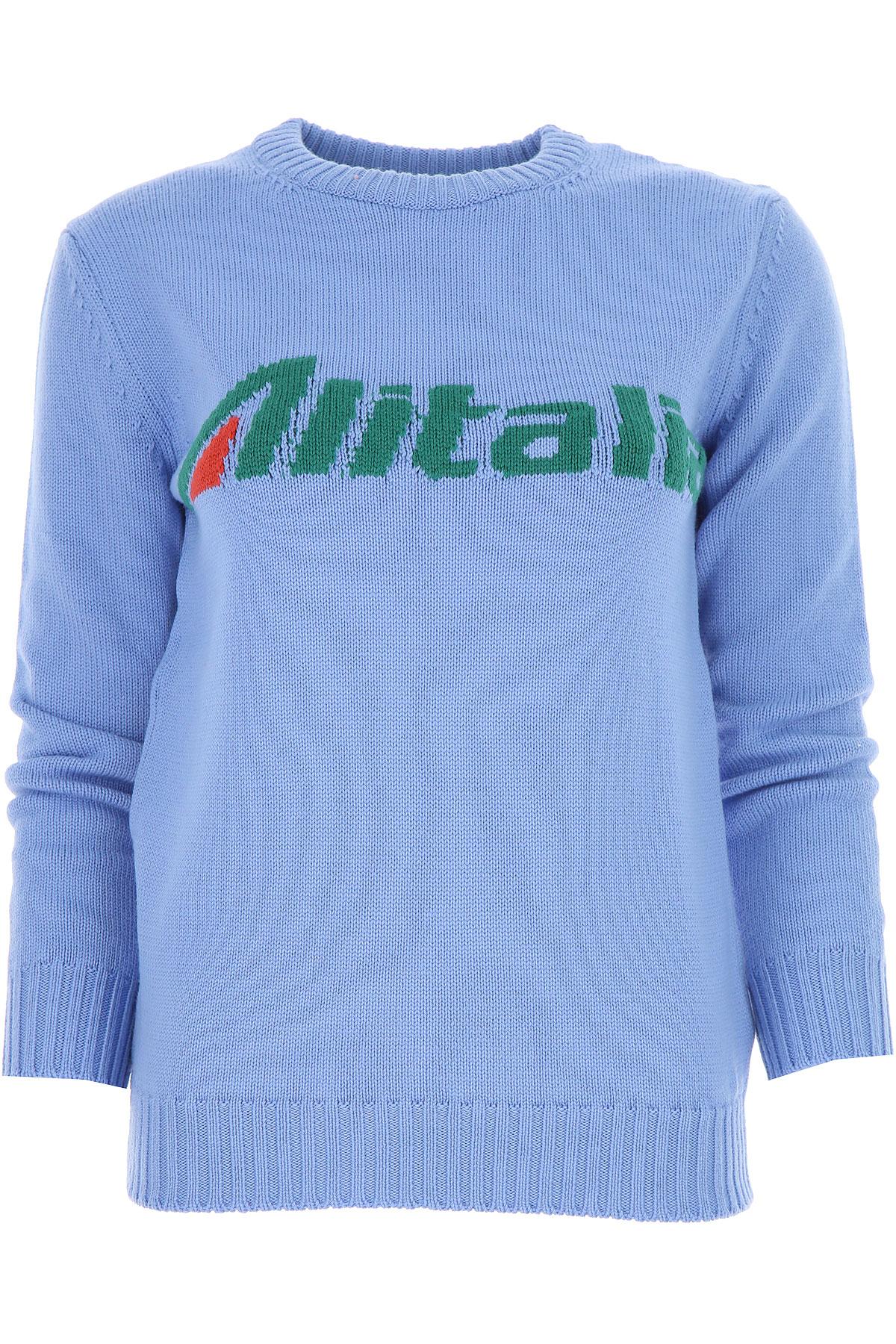 Alberta Ferretti Sweater for Women Jumper On Sale, Blue, Virgin wool, 2019, 2 4 6