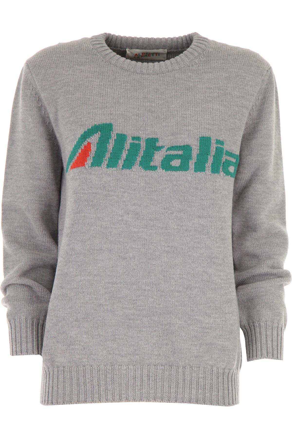 Alberta Ferretti Sweater for Women Jumper On Sale, Grey, Virgin wool, 2019, 2 6