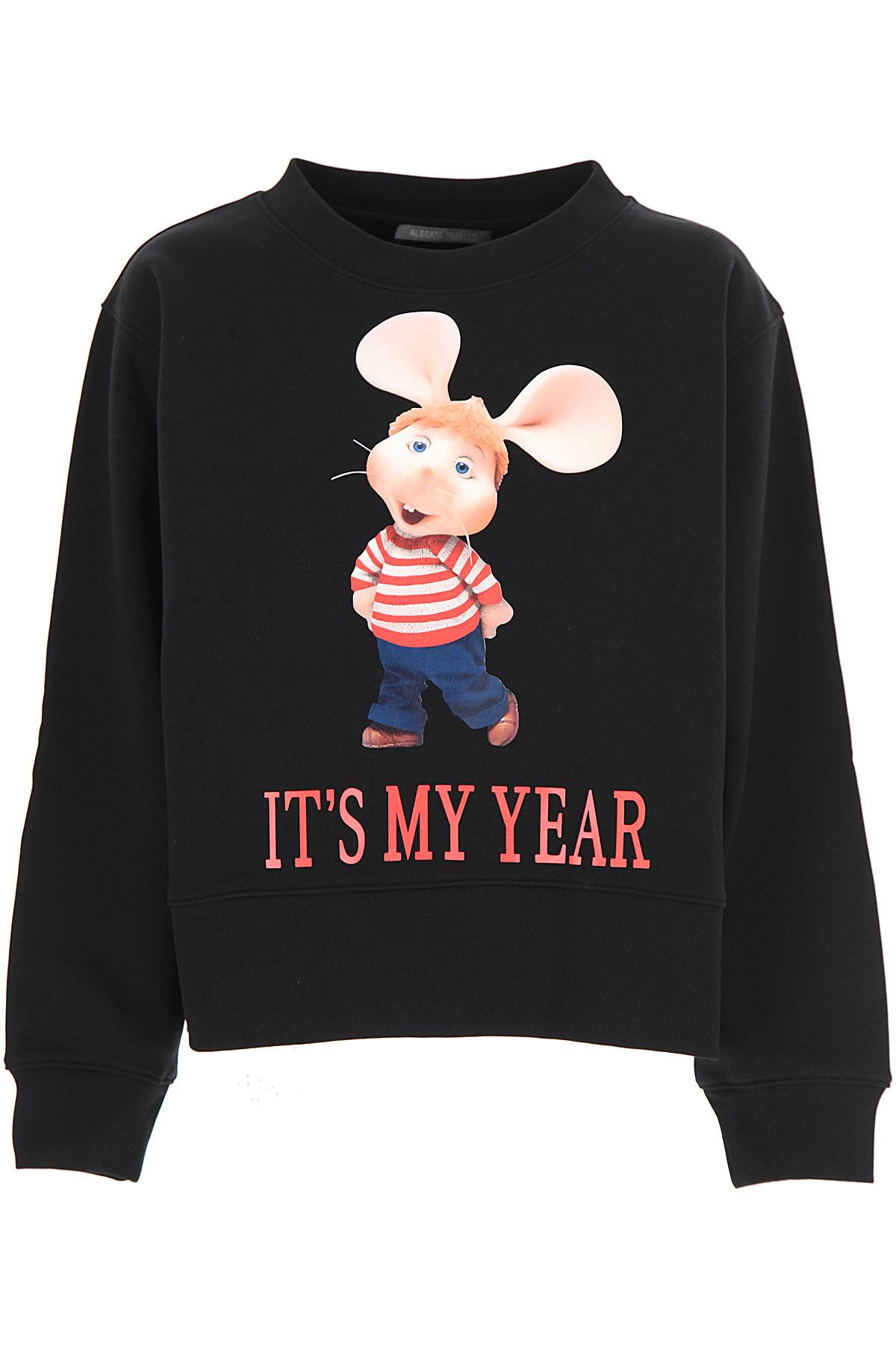 Alberta Ferretti Sweatshirt for Women On Sale, Black, Cotton, 2019, 2 4 6 8