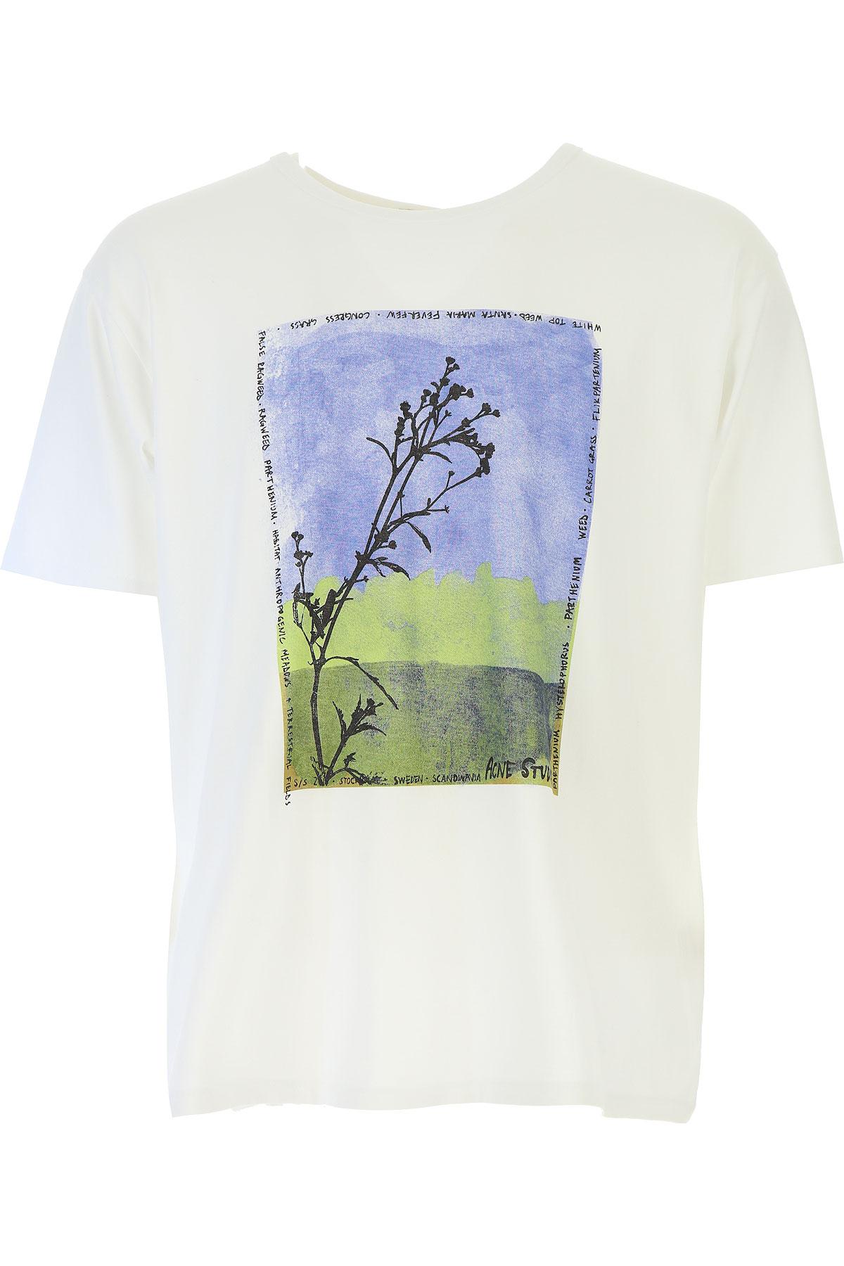 Image of Acne Studios T-Shirt for Men On Sale, White, Cotton, 2017, L M XL