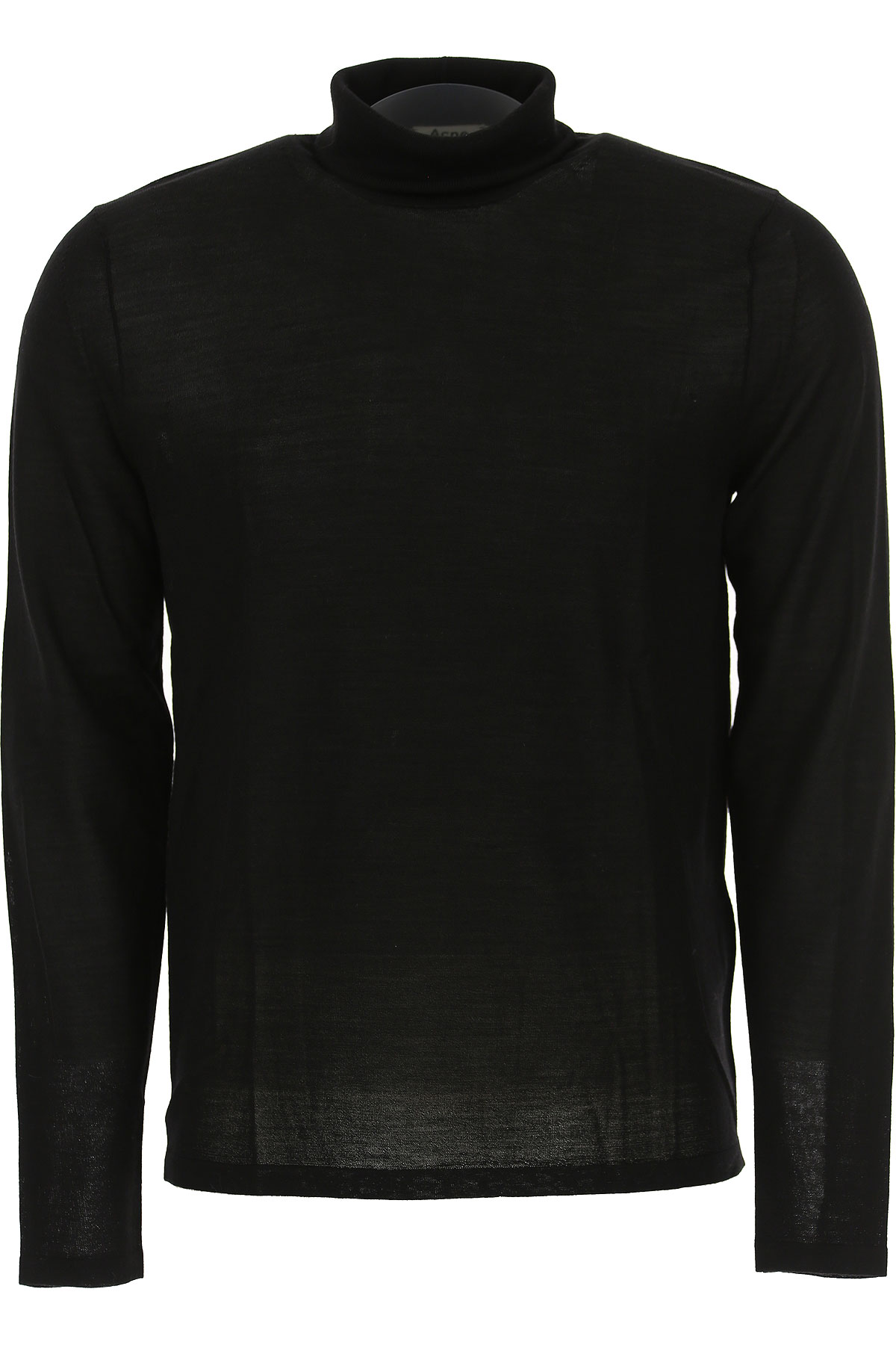 Image of Acne Studios Sweater for Men Jumper, Black, Merinos Wool, 2017, L M S XL