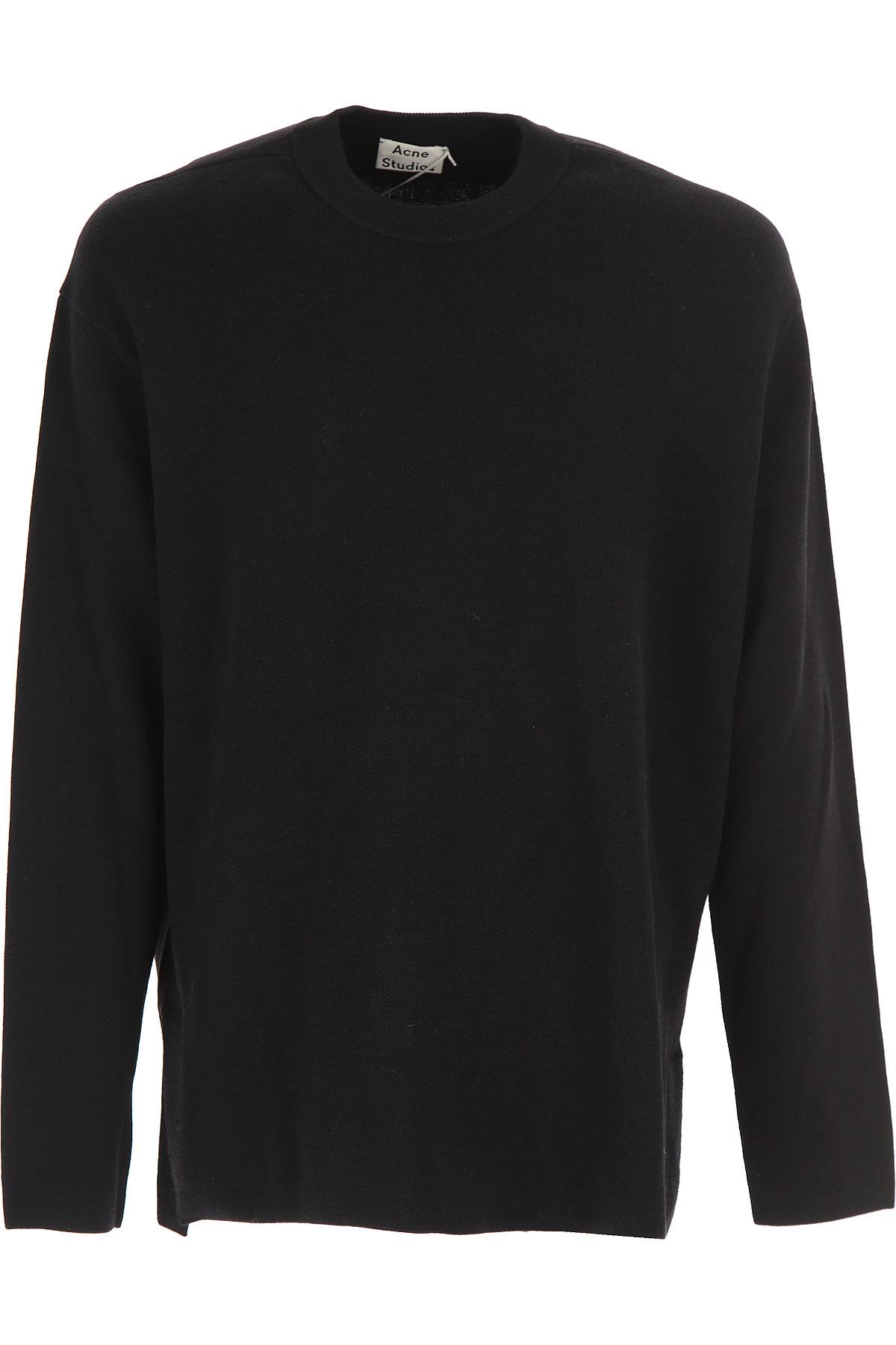 Image of Acne Studios Sweater for Men Jumper, Black, merino wool, 2017, L M S