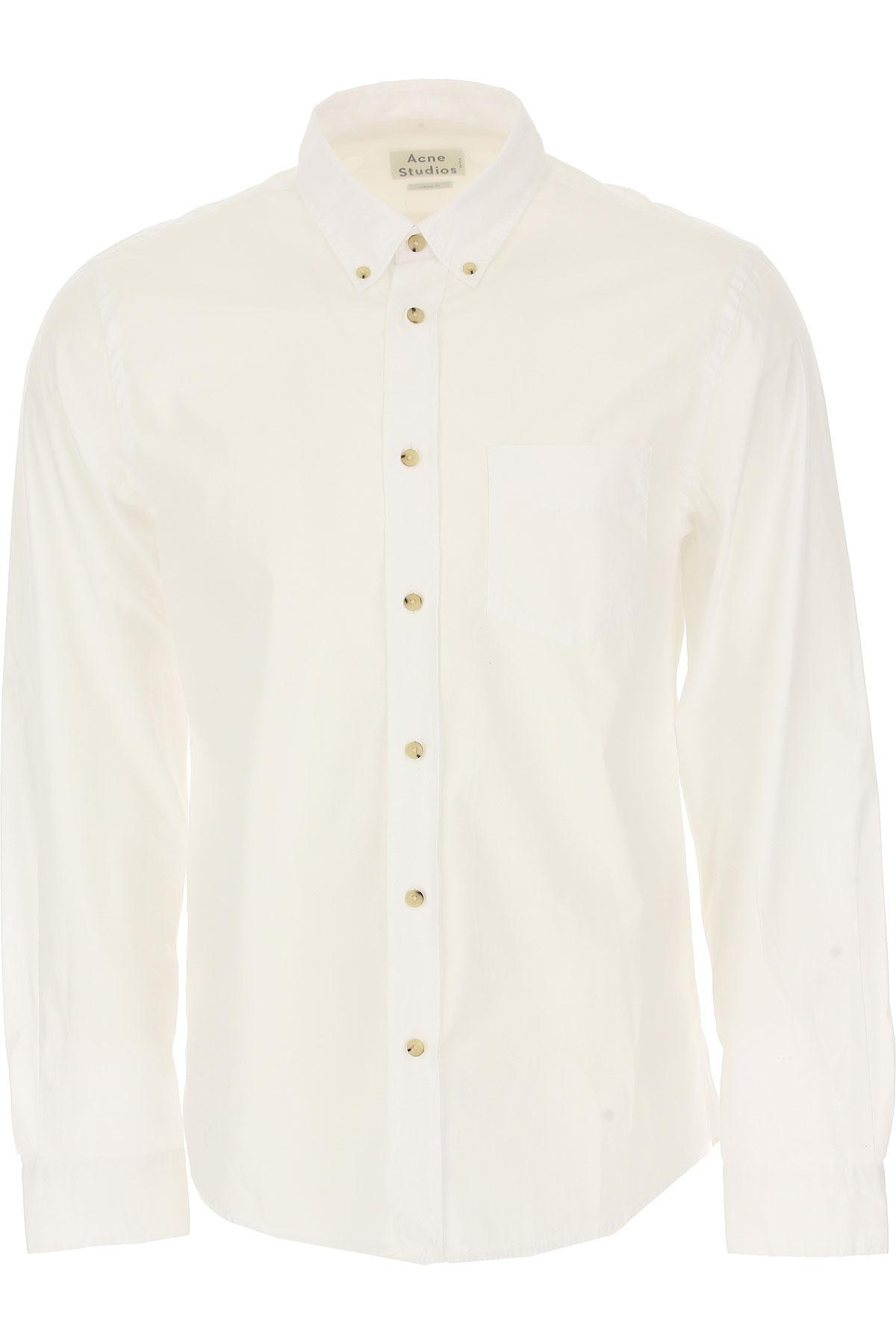 Image of Acne Studios Shirt for Men, White, Cotton, 2017, 30 32 34 36