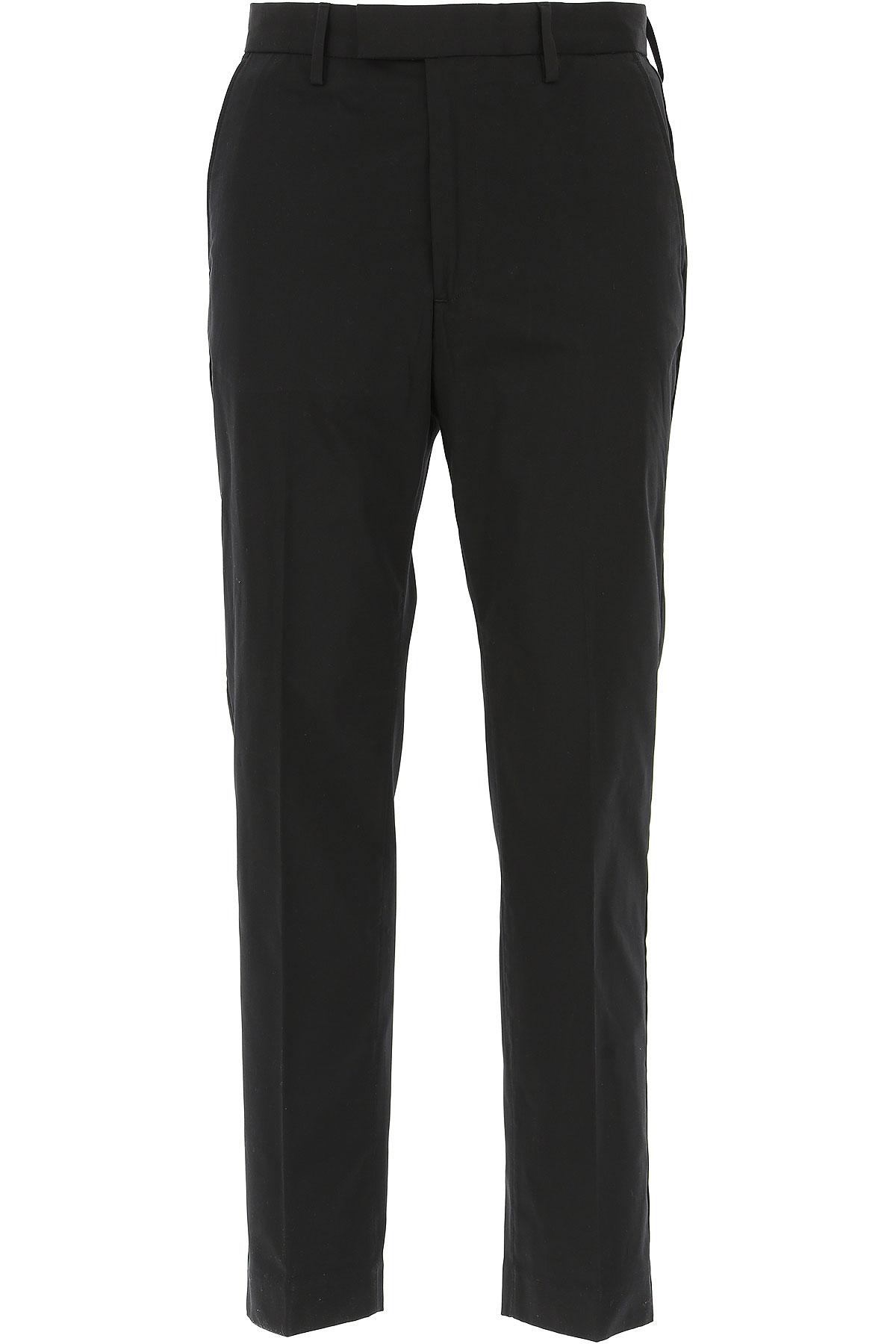 Image of Acne Studios Pants for Men, Black, Cotton, 2017, 30 32 34 36