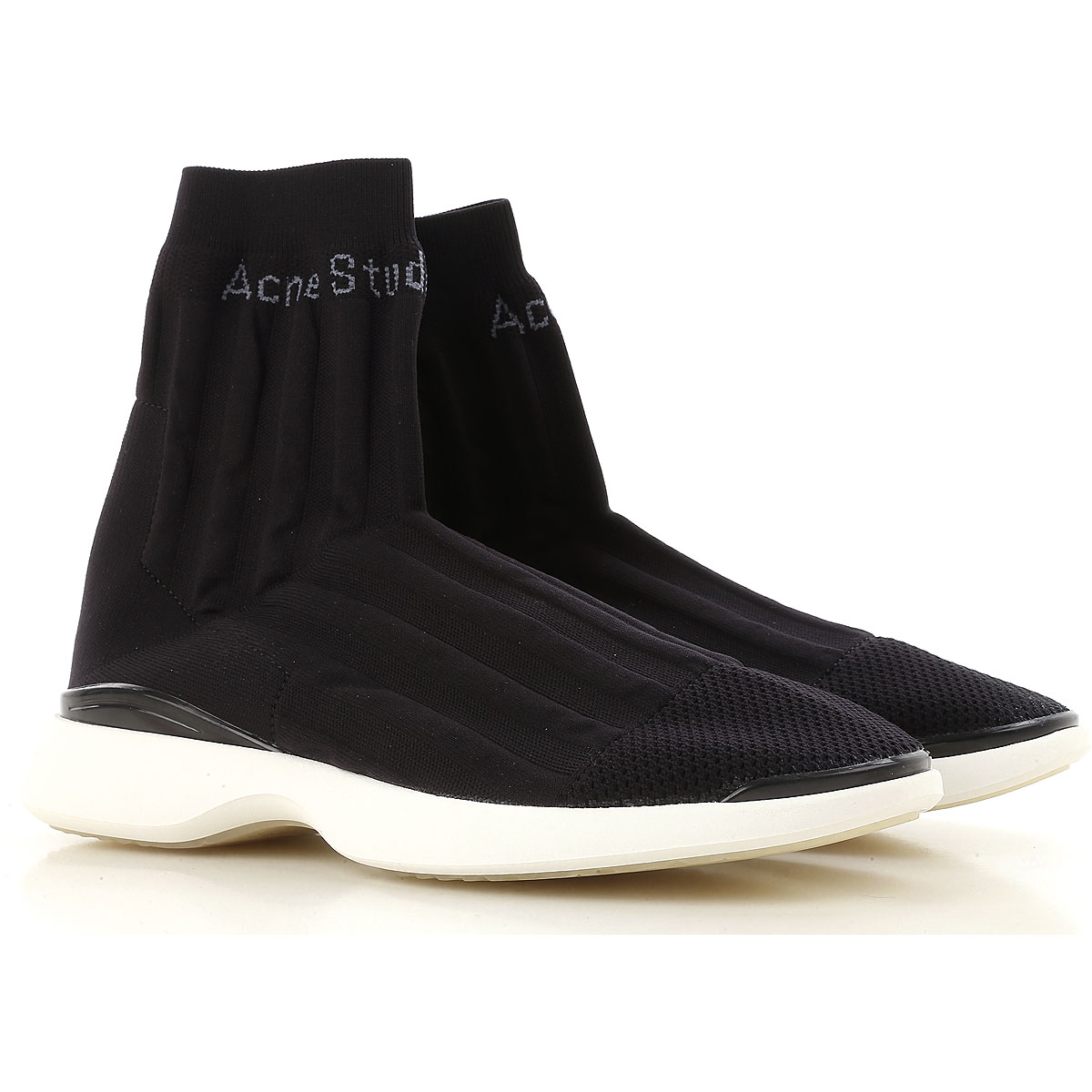 Image of Acne Studios Sneakers for Men On Sale, Black, Stretch Fabric, 2017, 11 9