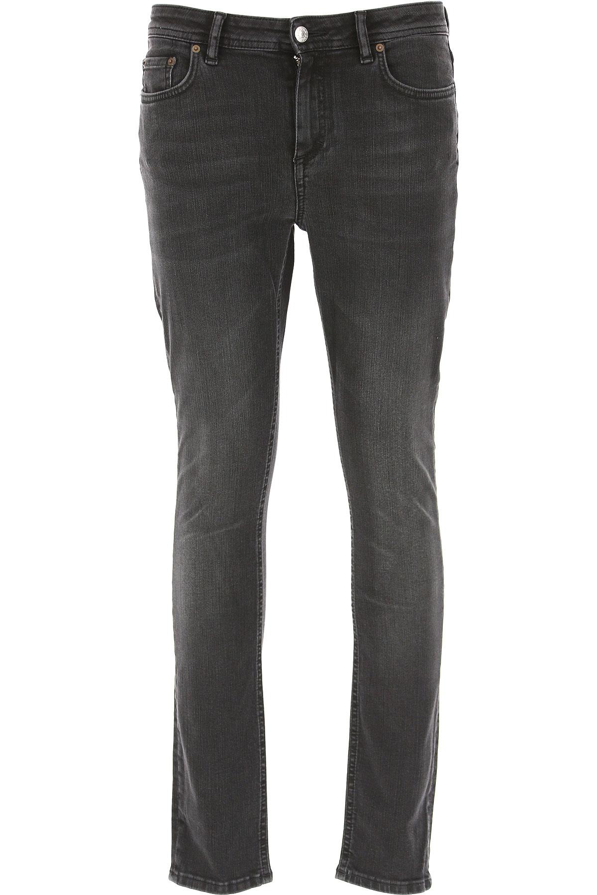 Image of Acne Studios Jeans, Black, Cotton, 2017, 29 30
