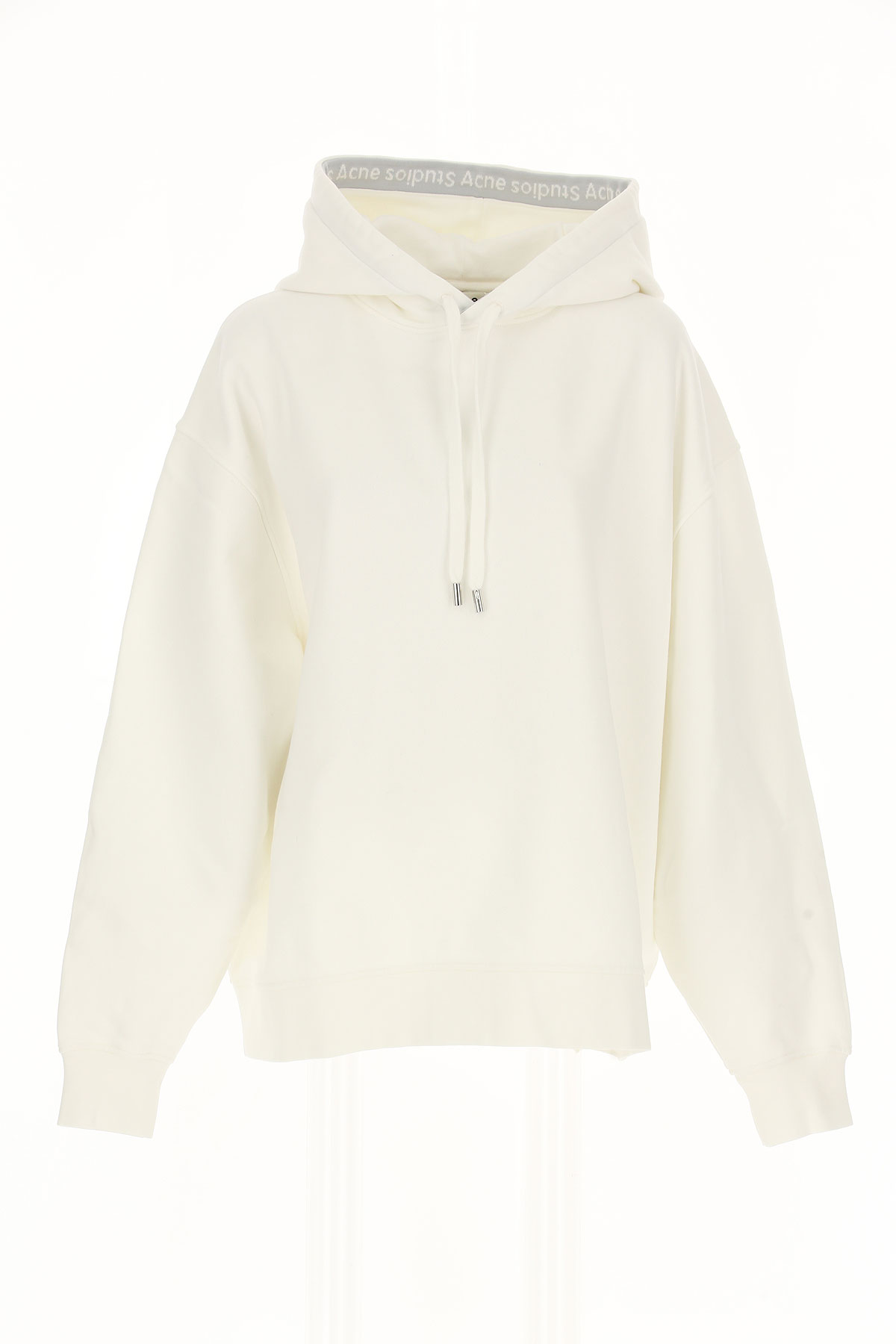 Image of Acne Studios Sweatshirt for Women, White, Cotton, 2017, 10 4 6 8