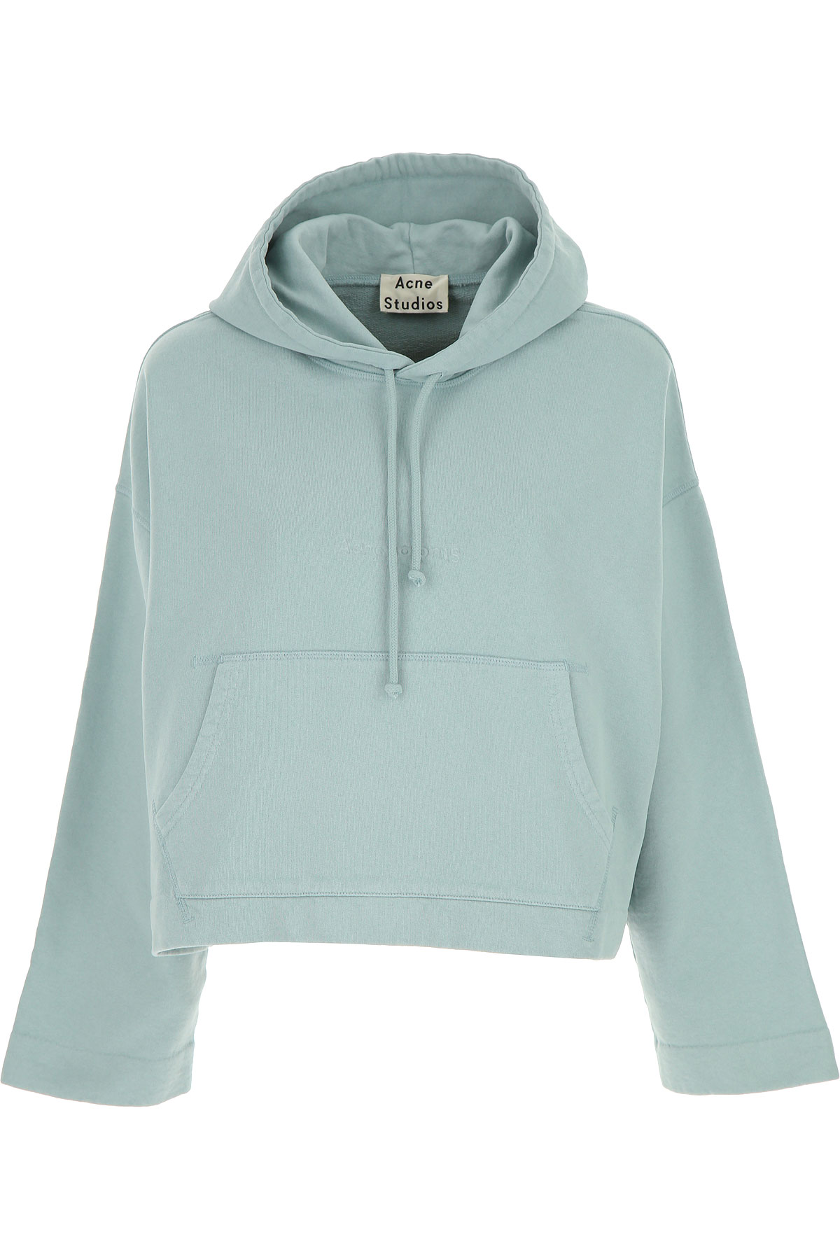 Acne Studios Sweatshirt for Women, Light Blue, Cotton, 2017, 4 6