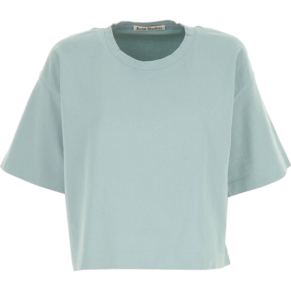 Acne Studios T-Shirt for Women, Light Blue, Cotton, 2017, 2 4