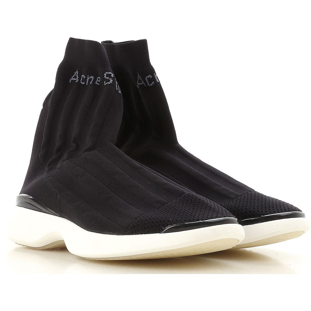 eca76cc55809 Nouveau Acne Studios Sneaker Femme, Noir, Tissu Stretch, 2017, 39 40