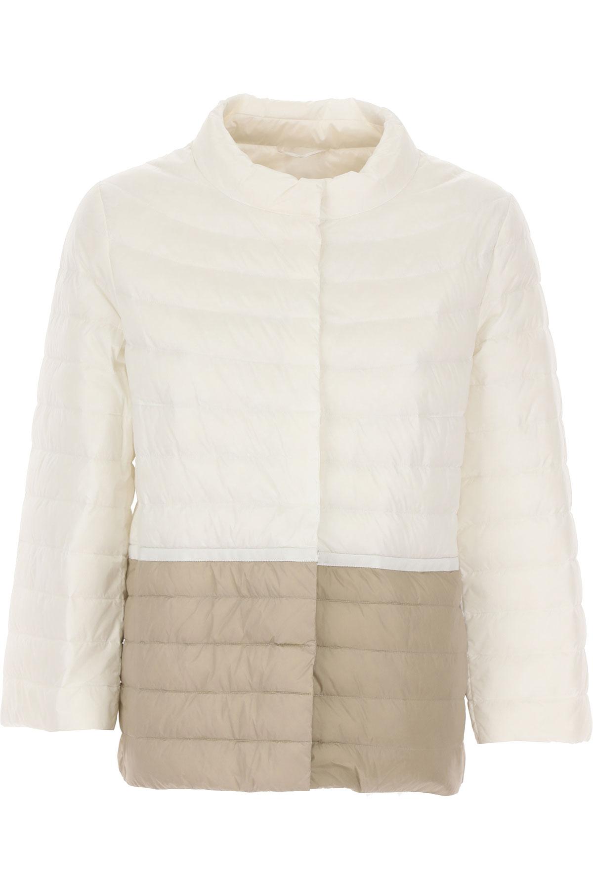 ADD Down Jacket for Women, Puffer Ski Jacket On Sale, Ecru, polyamide, 2019, 10 12 6 8