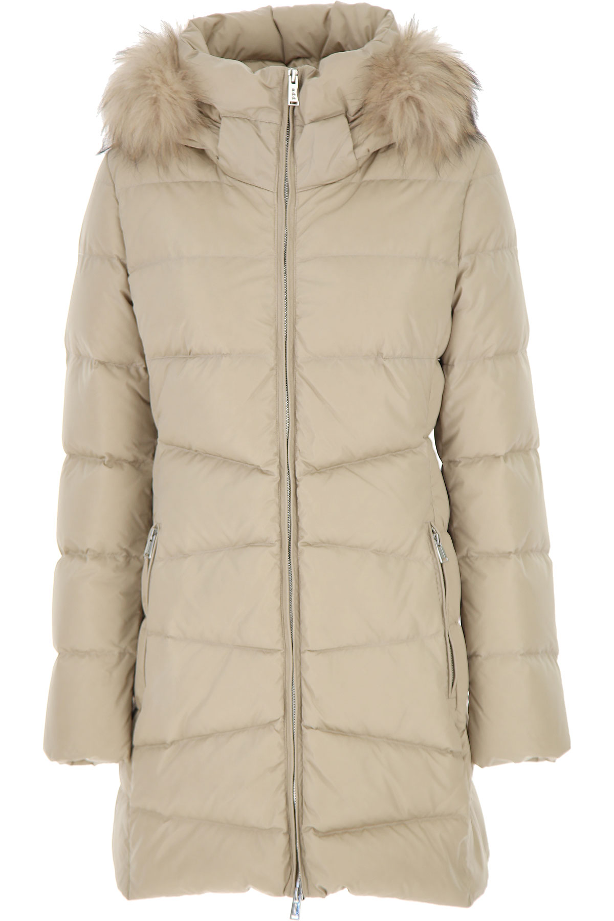 ADD Down Jacket for Women, Puffer Ski Jacket, Beige, polyamide, 2019, 10 4
