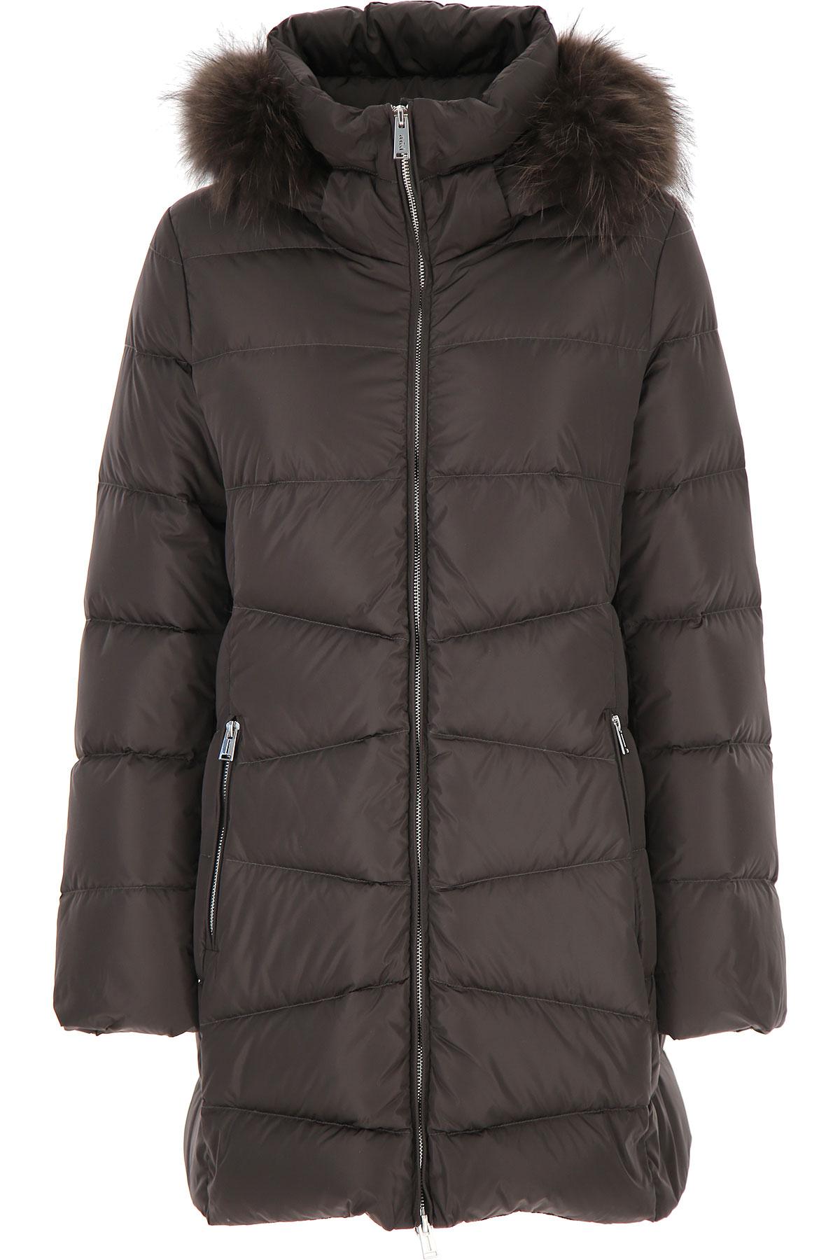 ADD Down Jacket for Women, Puffer Ski Jacket, Grey Metal, polyamide, 2019, 4 8