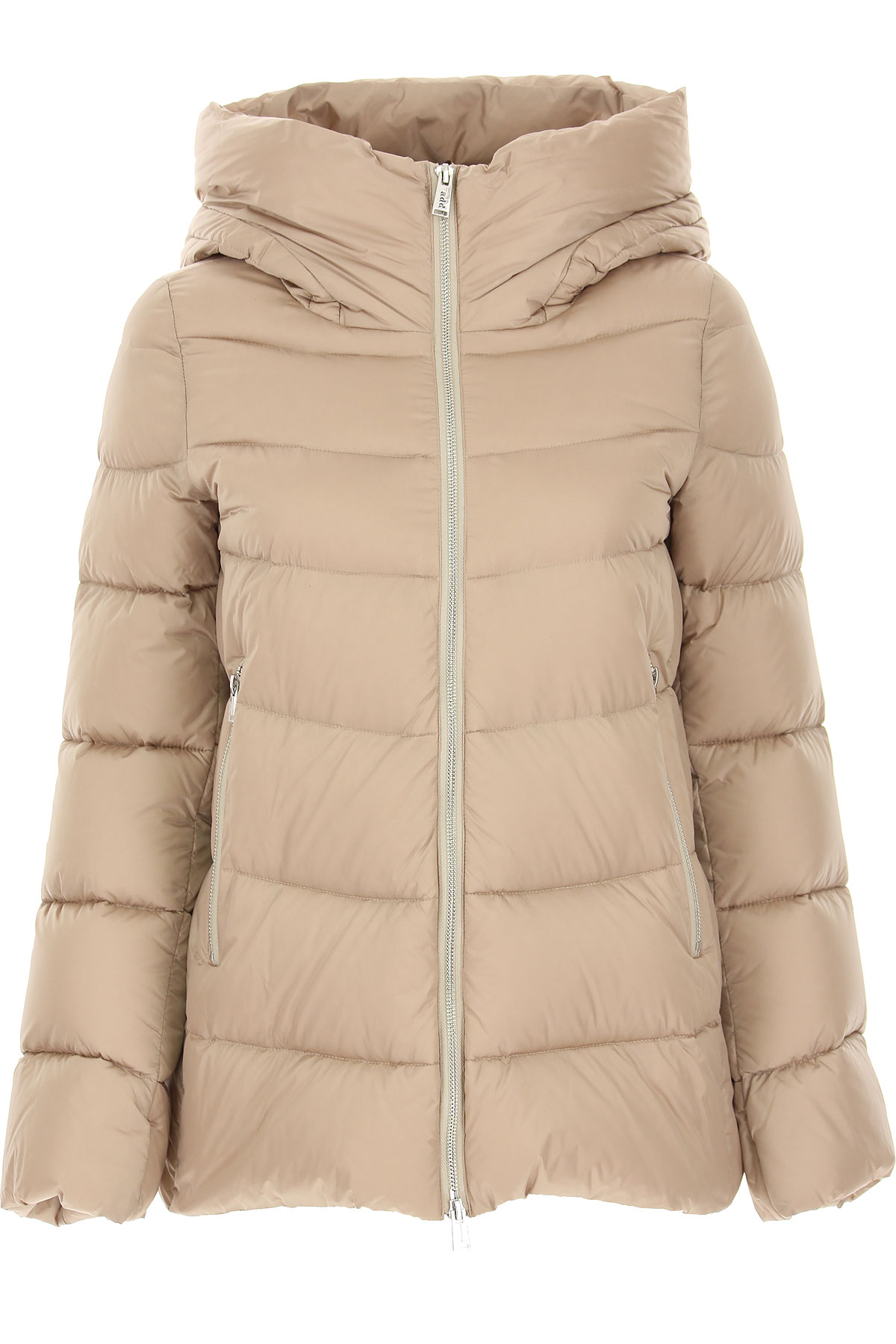 ADD Down Jacket for Women, Puffer Ski Jacket, Beige, polyamide, 2019, 4 6 8