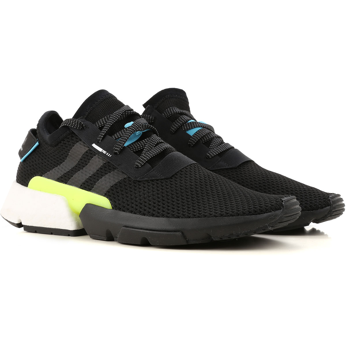 Image of Adidas Sneakers for Men, Black, Fabric, 2017, US 7 - UK 6 - EUR 40 US 7.5 - UK 7 - EU 40.5 US 8 - UK 7.5 - EU 41 US 8 1/2 - UK 8 - EU 42 US 9.5 - UK 9 - EU 43 US 10 - UK 9 1/2 - EU 44