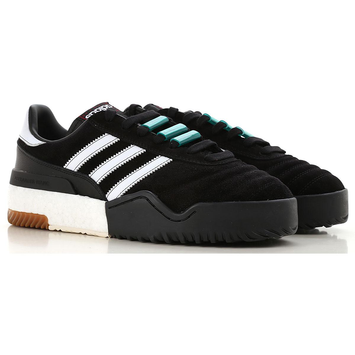 Image of Adidas Sneakers for Men, Black, Suede leather, 2017, US 7 - UK 6 - EUR 40 US 7.5 - UK 7 - EU 40.5 US 8 - UK 7.5 - EU 41