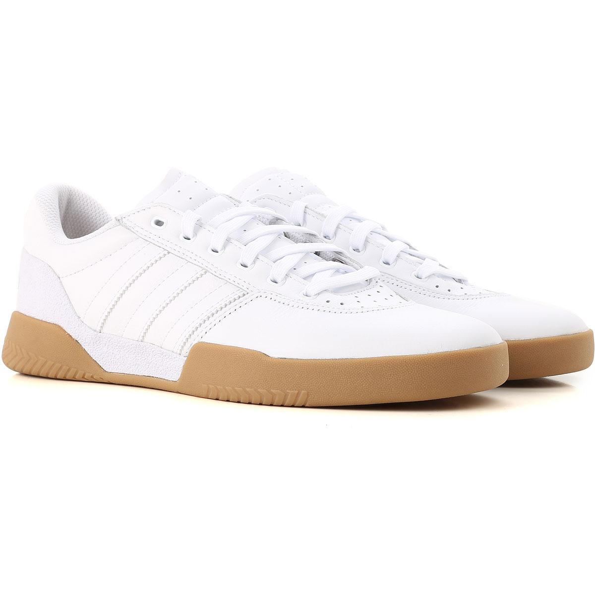 Image of Adidas Sneakers for Men, City Cup, White, Leather, 2017, US 7 - UK 6 - EUR 40 US 8 - UK 7.5 - EU 41 US 8 1/2 - UK 8 - EU 42 US 9.5 - UK 9 - EU 43 US 10 - UK 9 1/2 - EU 44 US 11 - UK 10 1/2 - EU 45