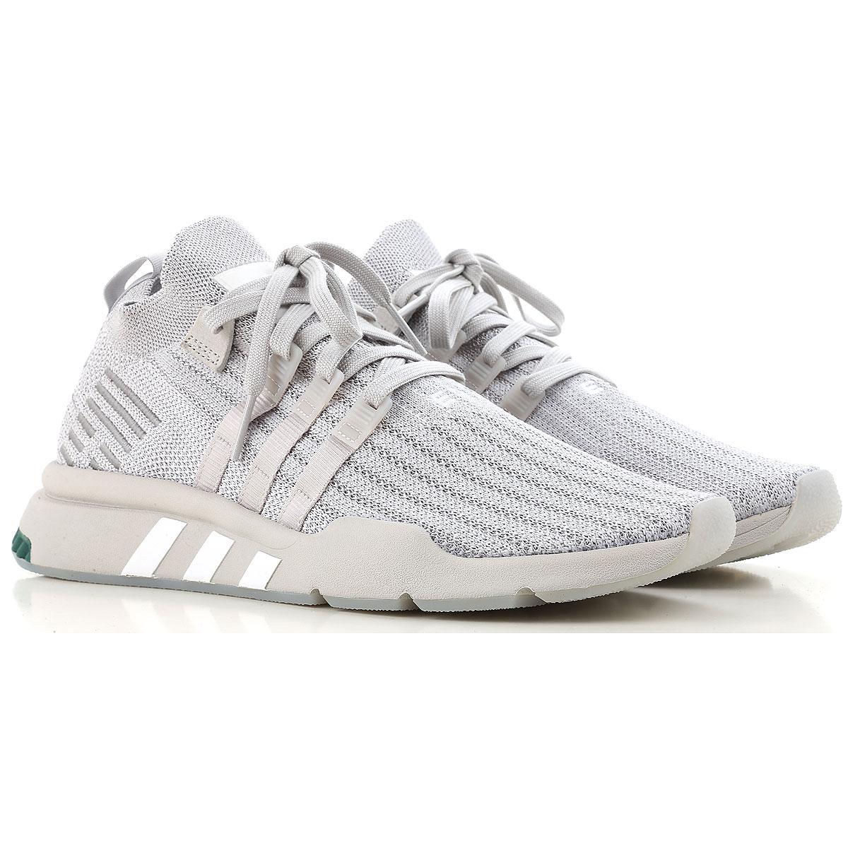 Image of Adidas Sneakers for Men, Light Grey, Fabric, 2017, US 10.5 - UK 10 - EU 44.5 US 11.5 - UK 11 - EU 45.5 US 8 - UK 7.5 - EU 41