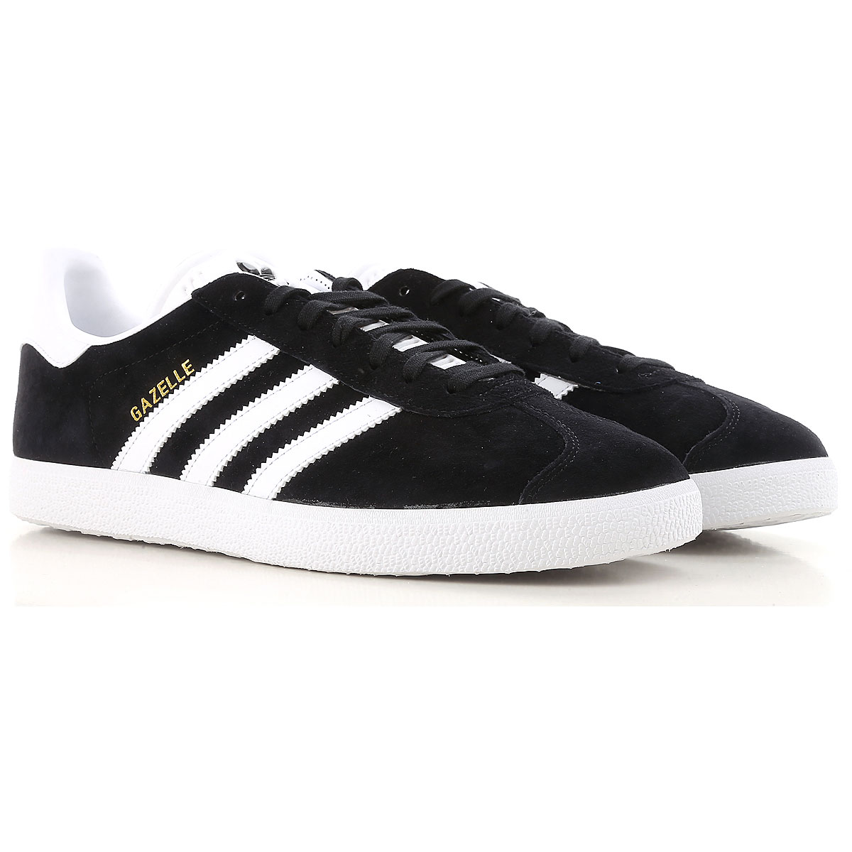 Image of Adidas Sneakers for Men, Gazelle, Black, Suede leather, 2017, US 7 - UK 6 - EUR 40 US 7.5 - UK 7 - EU 40.5 US 7 - UK 6.5 - EU 40 US 8 - UK 7.5 - EU 41 US 8 1/2 - UK 8 - EU 42 US 9.5 - UK 9 - EU 43 US 10 - UK 9 1/2 - EU 44 US 11 - UK 10 1/2 - EU 45