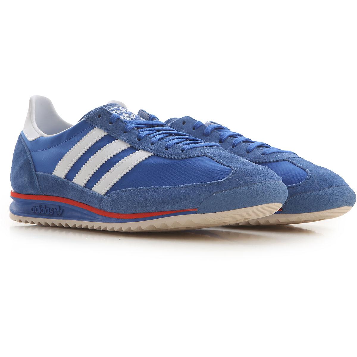 Adidas Sneakers for Men On Sale, Bluette, Synthetic Suede, 2019, US 9.5 - UK 9 - EU 43.5 US 8 - UK 7.5 - EU 41.5
