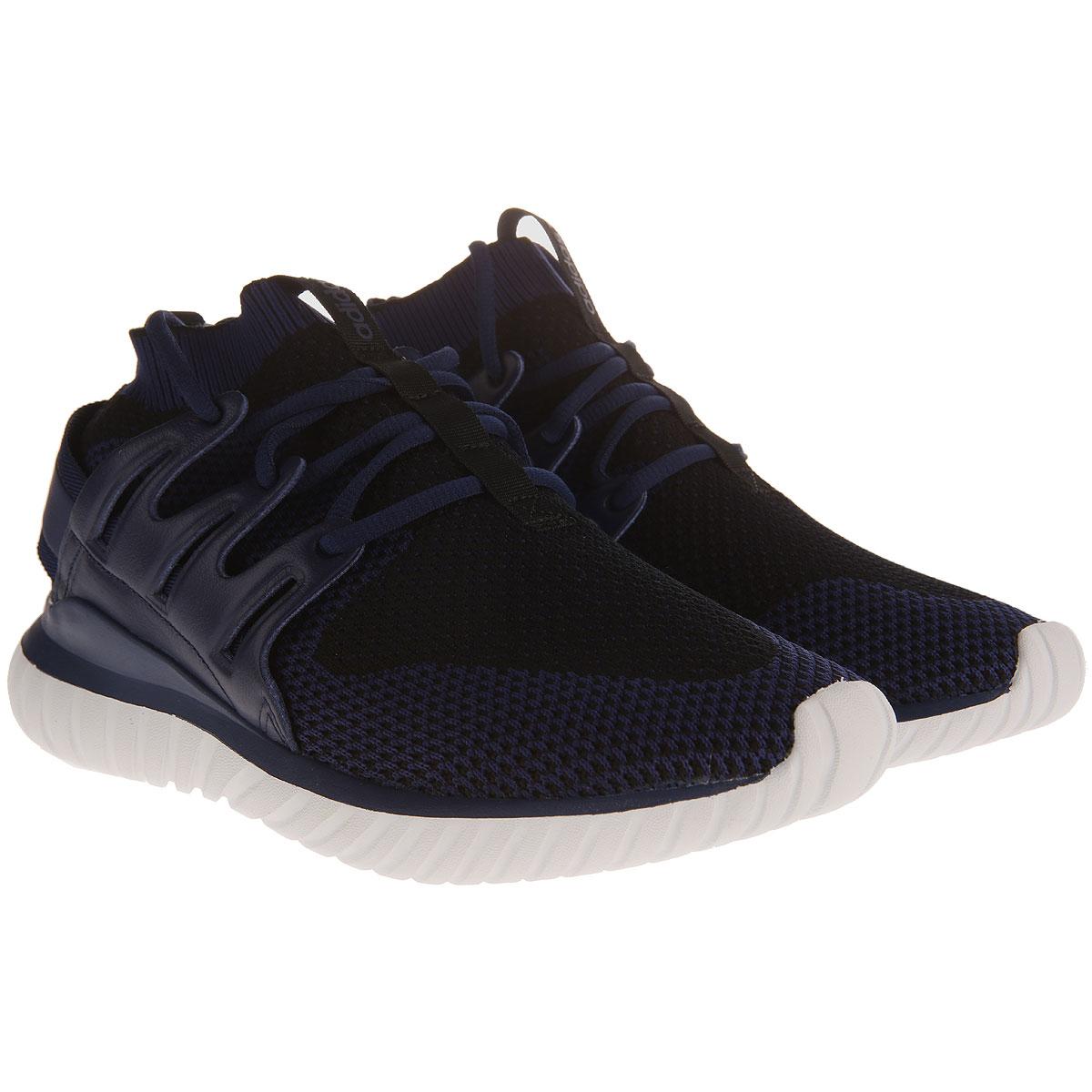 Image of Adidas Mens Shoes On Sale in Outlet, Tubular Nova, Blue, Knitted, 2017, US 8 1/2 - UK 8 - EU 42 US 10 - UK 9 1/2 - EU 44