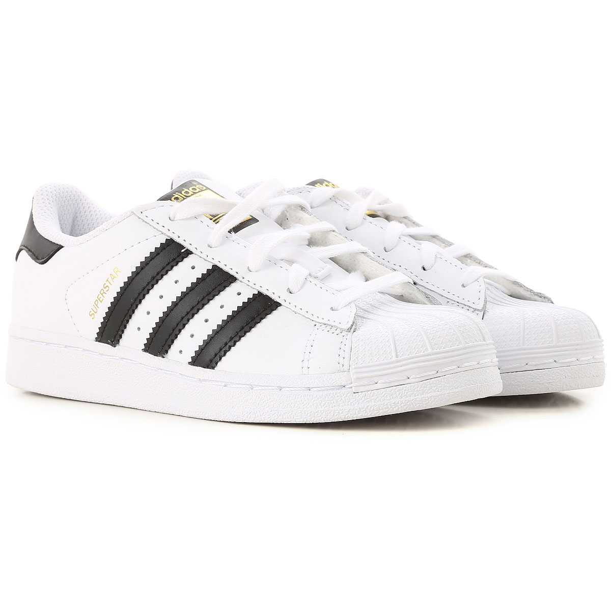 Image of Adidas Kids Shoes for Boys, White, Leather, 2017, 28 29 30 31 32 33 34 35