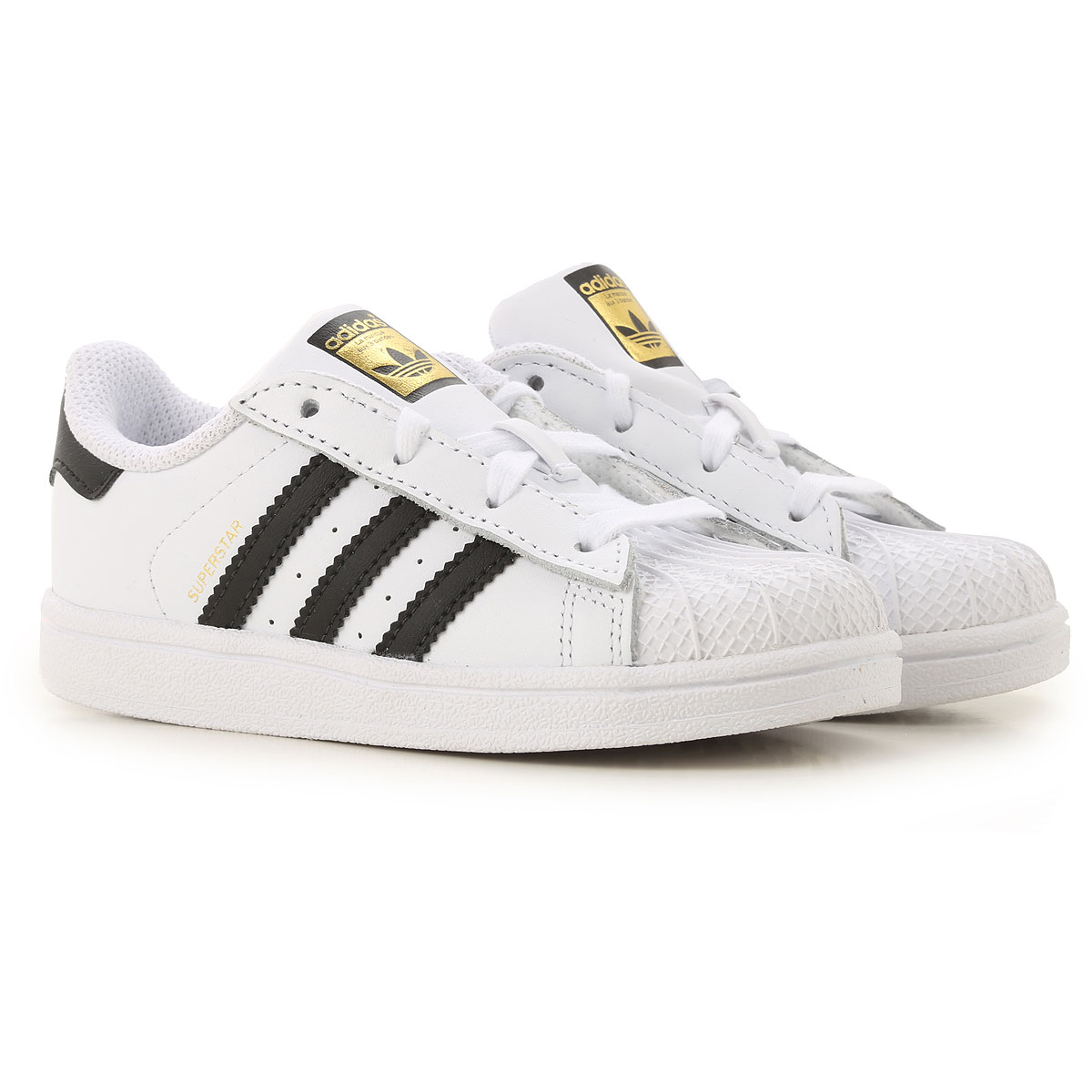 Adidas Kids Shoes for Boys On Sale, White, Leather, 2019, 22 27