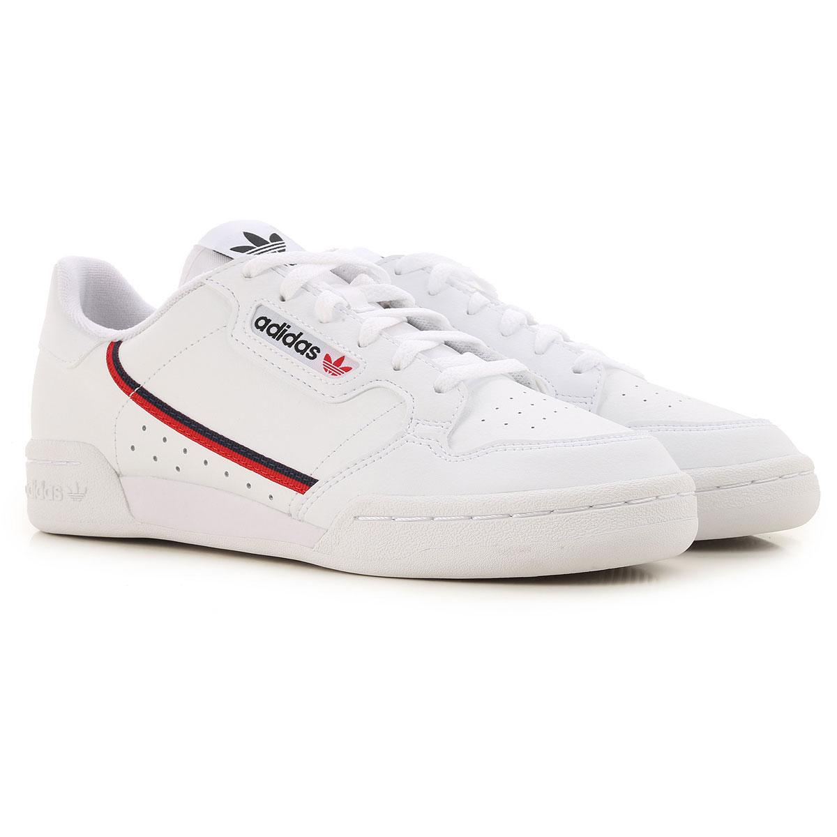 Adidas Kids Shoes for Boys On Sale, White, Leather, 2019, UK 4.5 - EUR 37.5 UK 5 - EUR 38 UK 5.5 - EUR 38.5