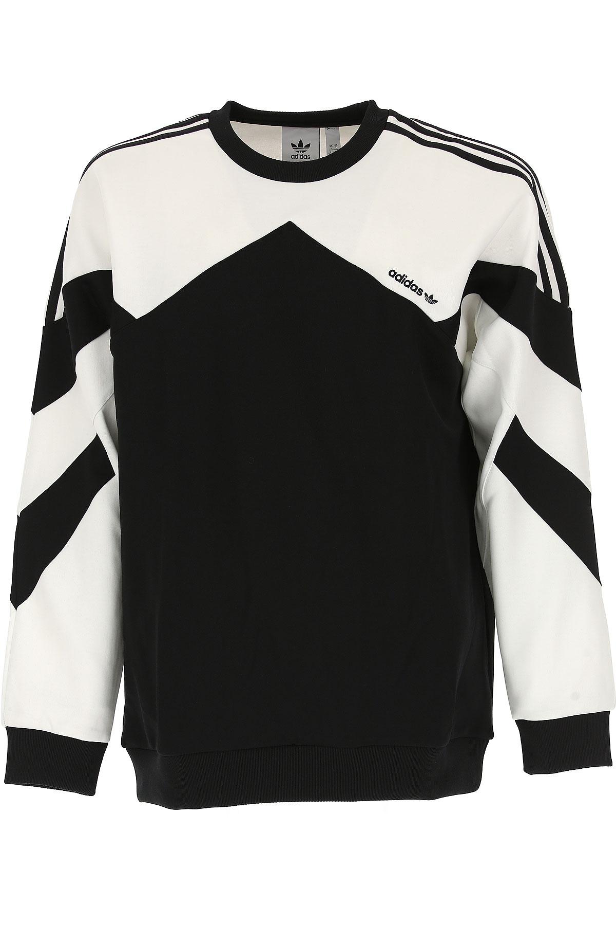 Adidas Sweatshirt for Men, Black, polyester, 2017, L XL USA-467644