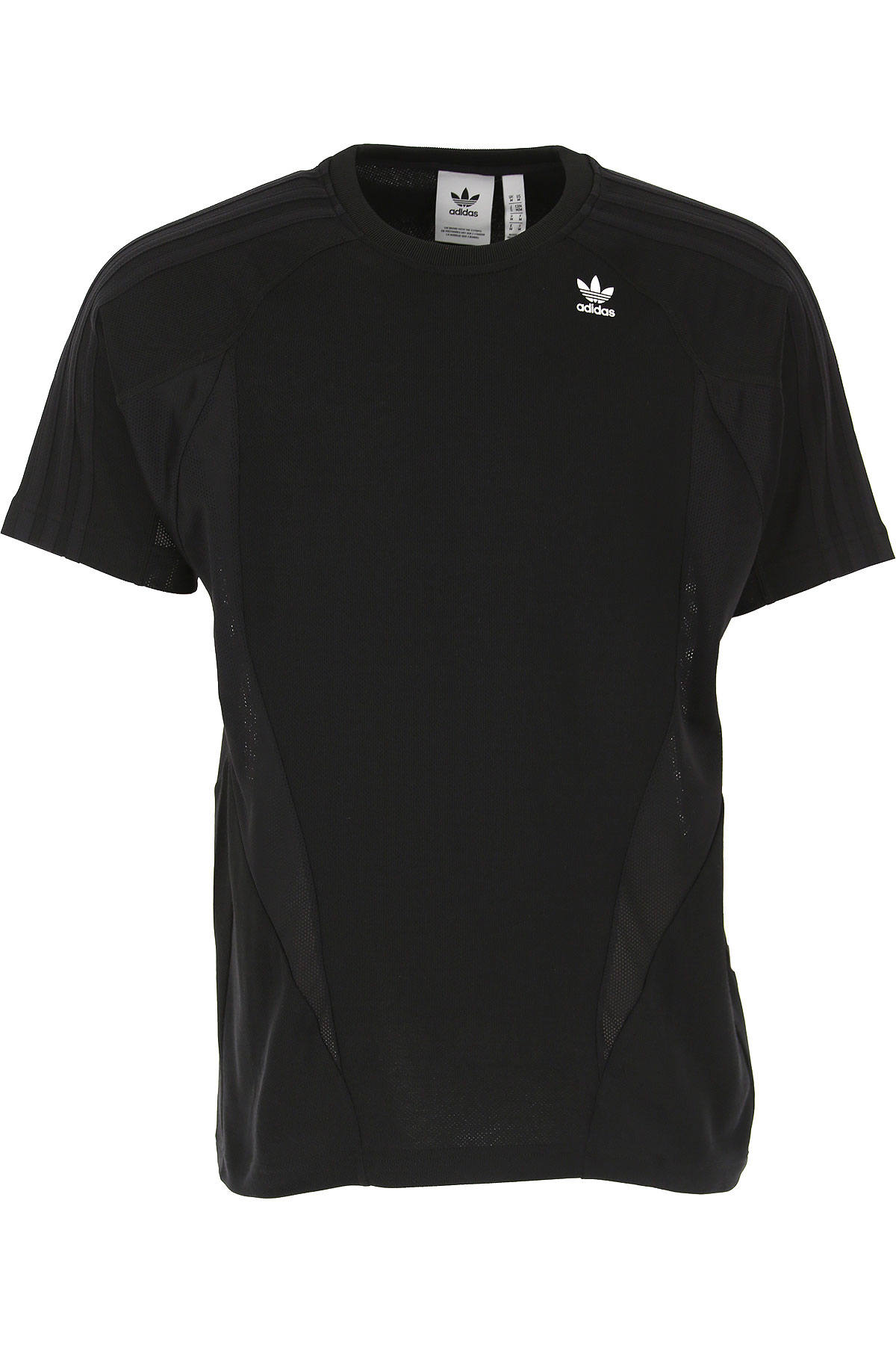 Adidas Camiseta de Hombre, Negro, Algodon, 2017, L S