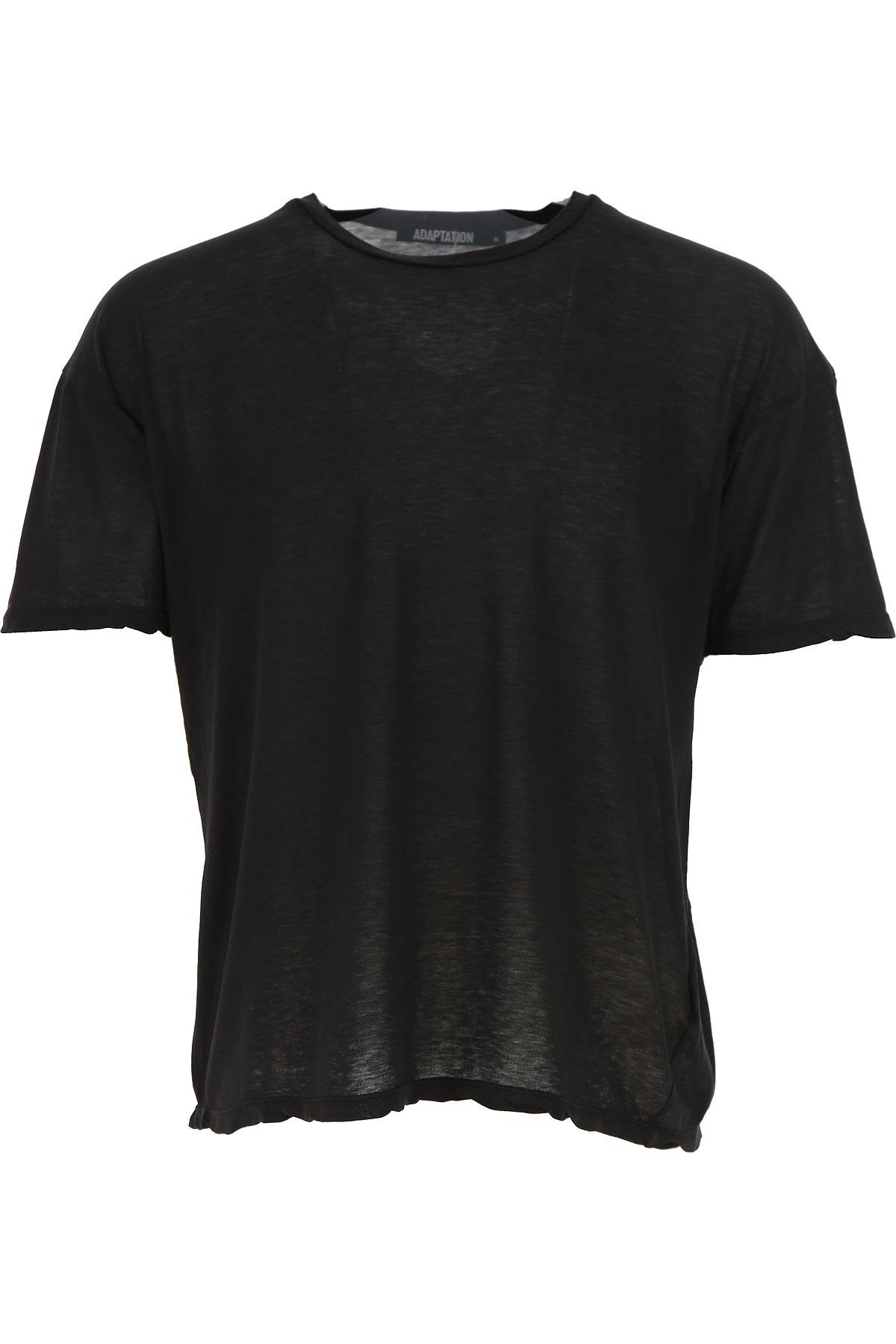 Image of Adaptation T-Shirt for Men, Black, Cotton, 2017, L M S XS